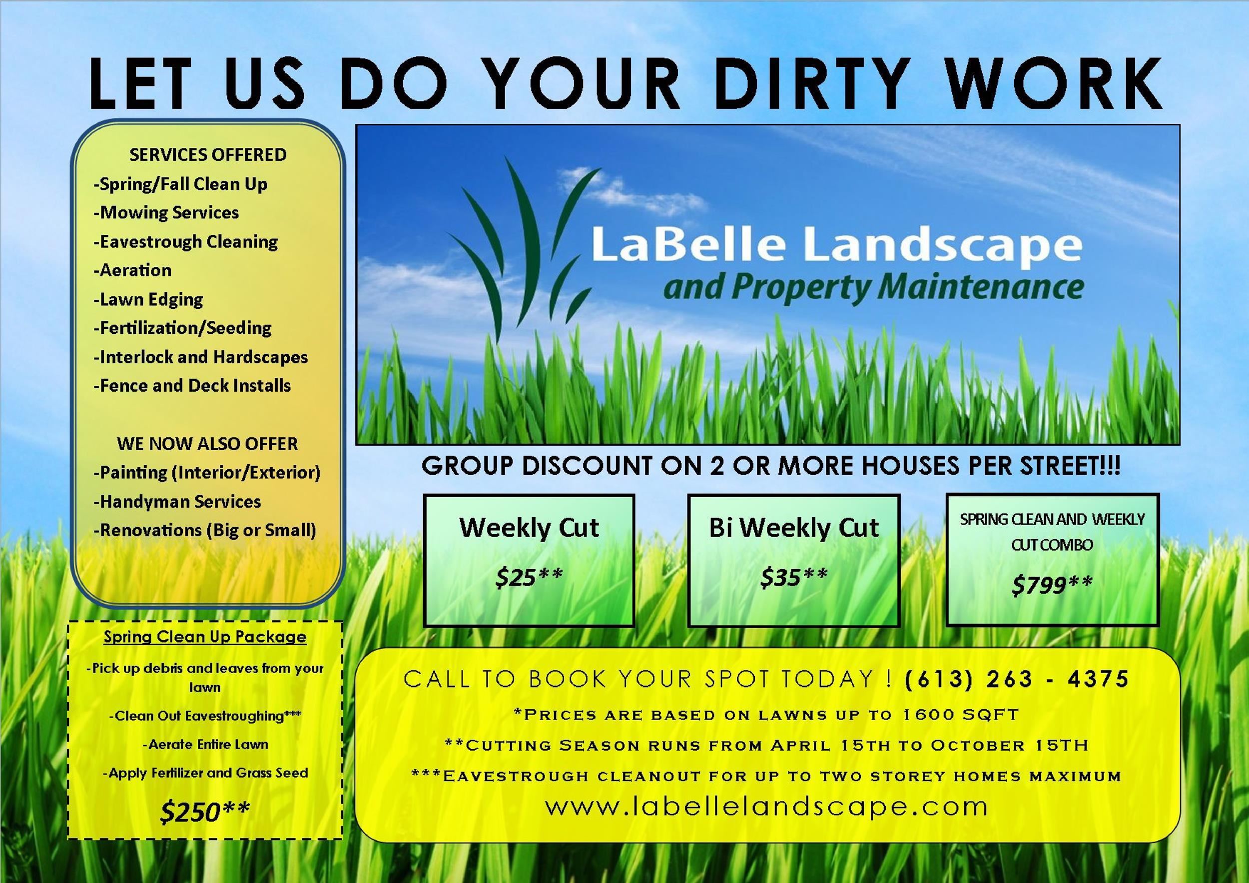 Free lawn care flyer 30