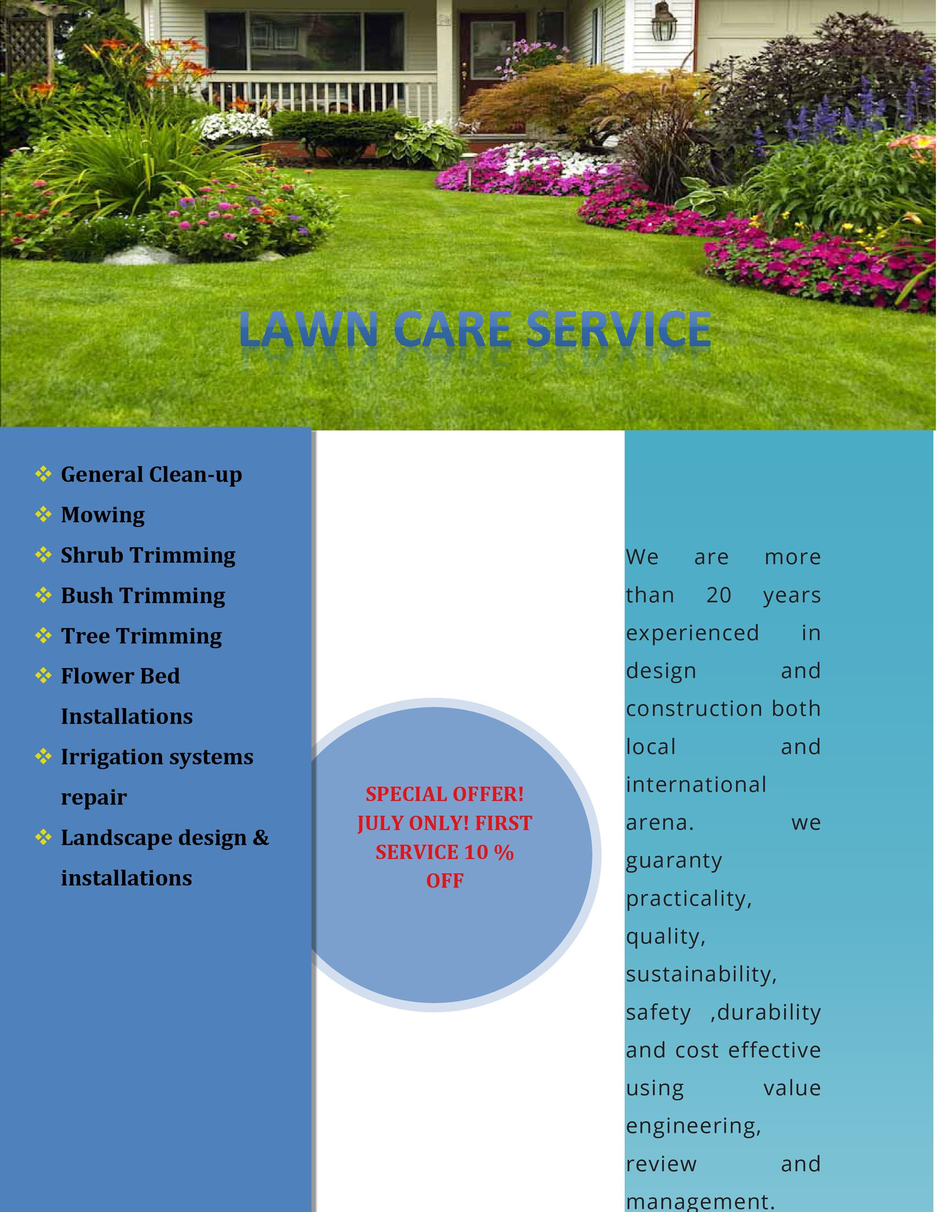 Free lawn care flyer 31