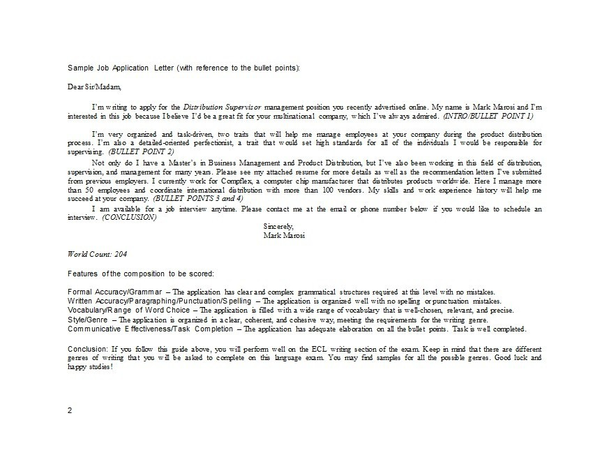 Free letter of application 23