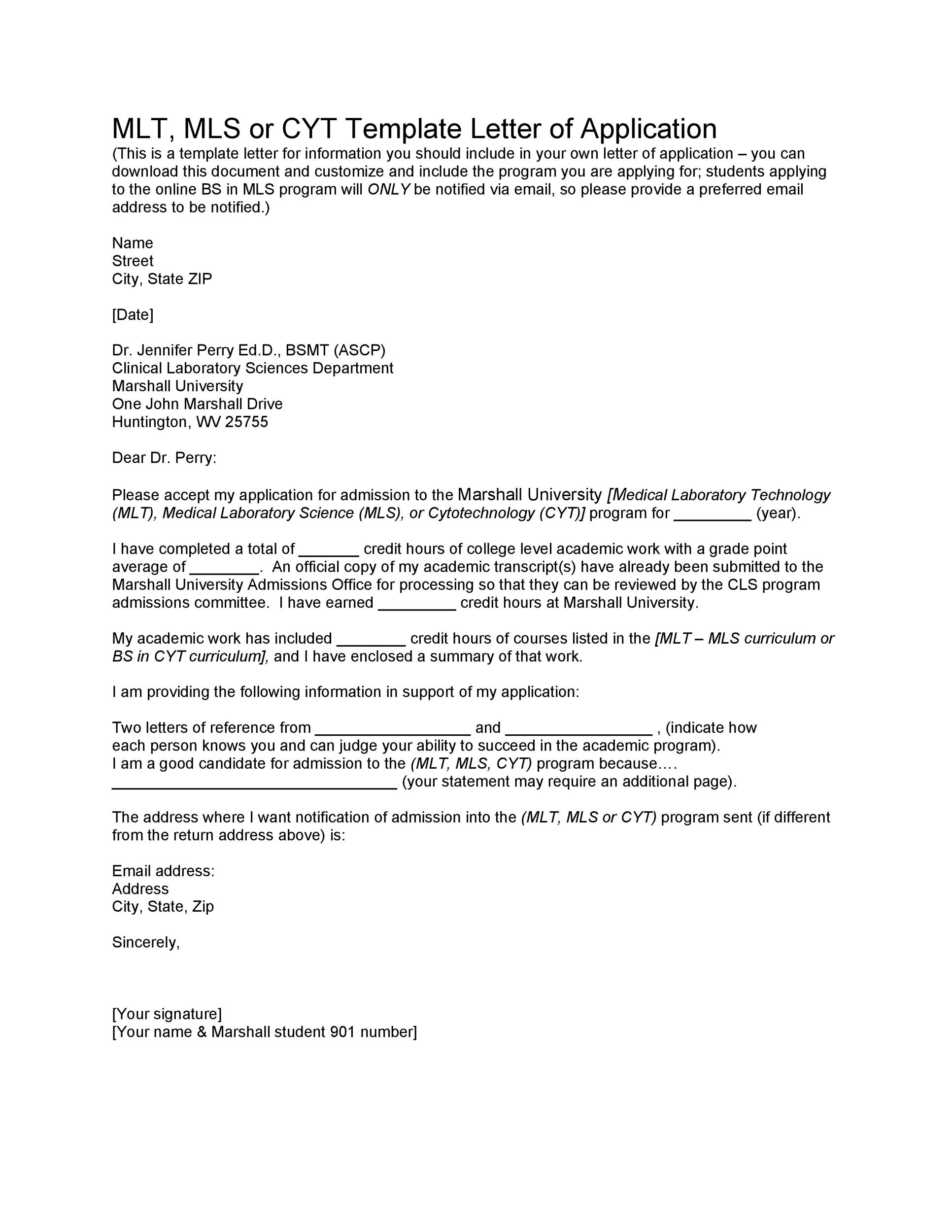 Free letter of application 24