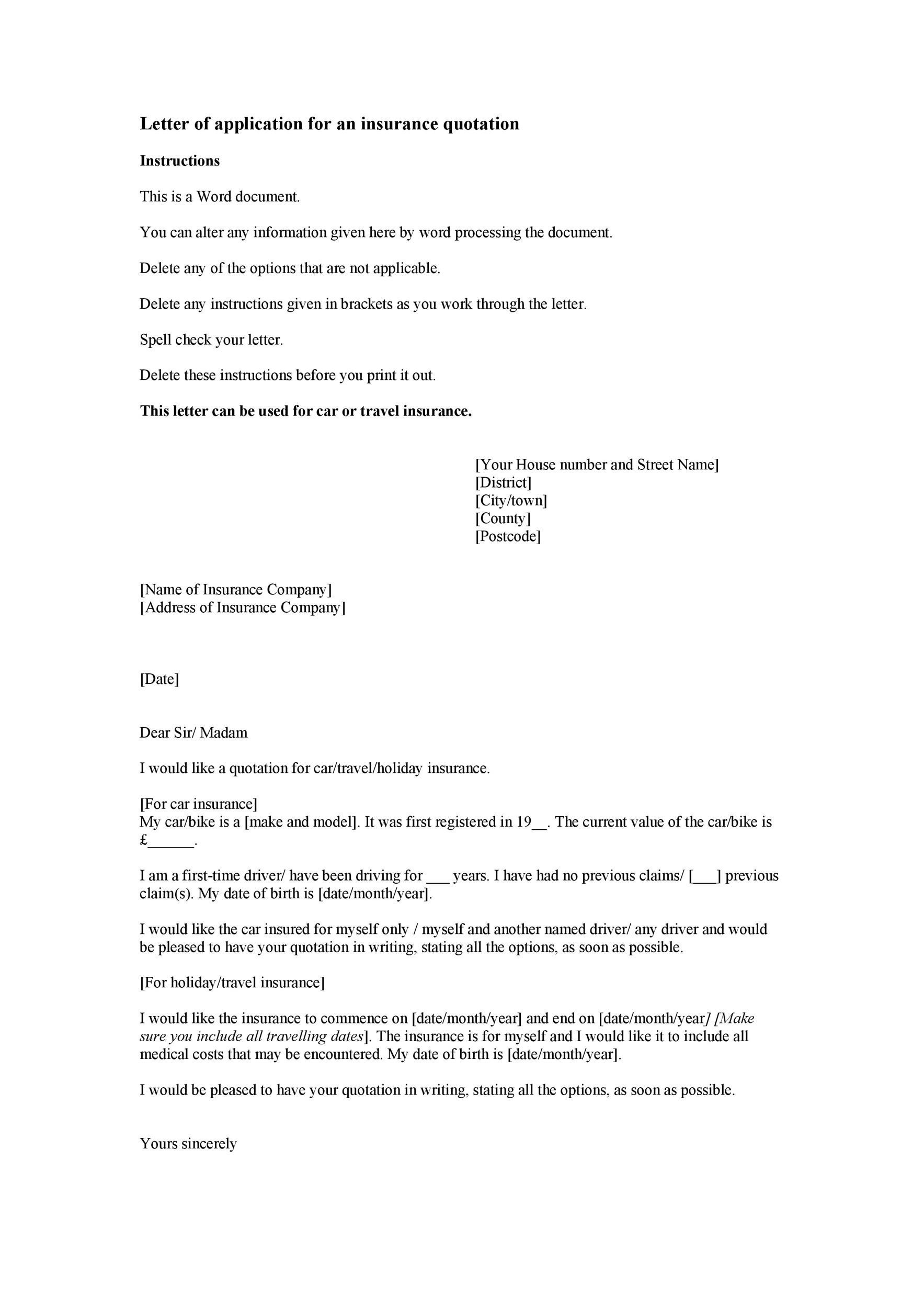 Free letter of application 33