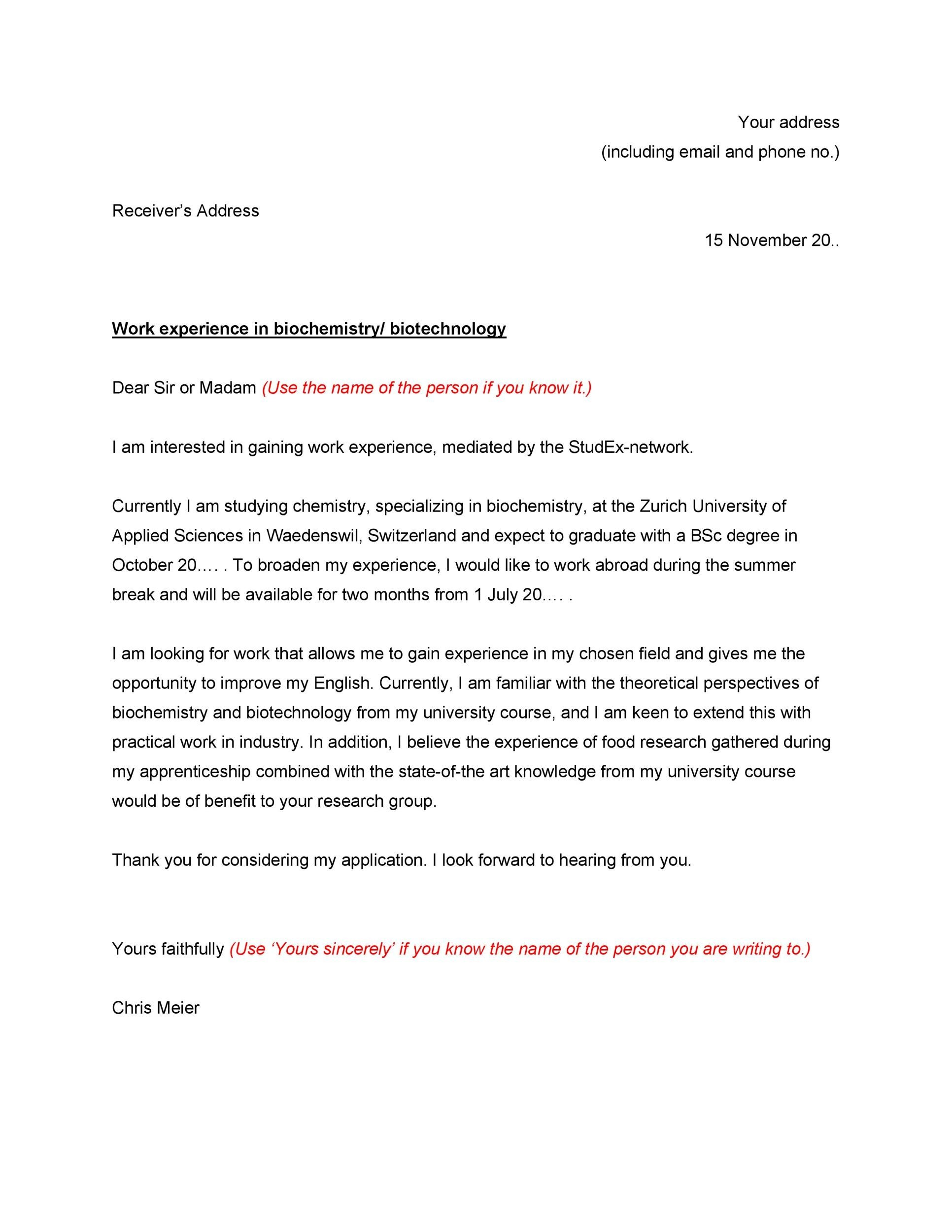 Free letter of application 41