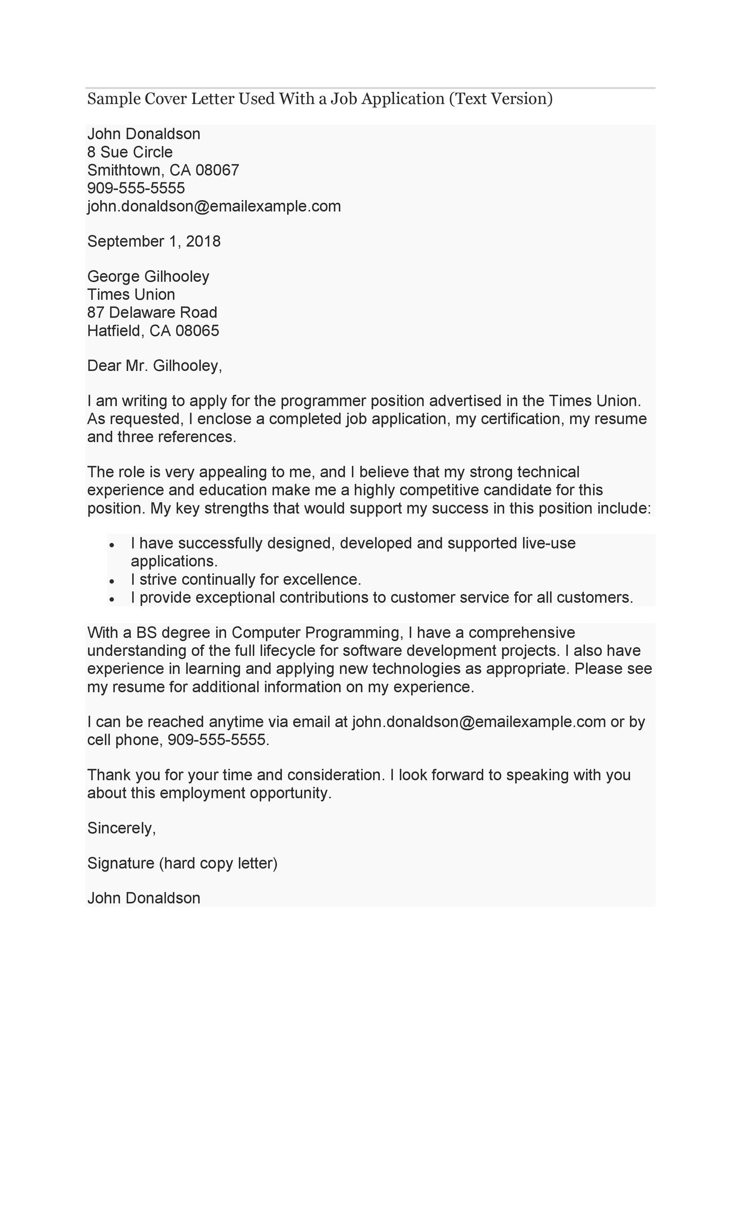 A Letter Of Application from templatelab.com