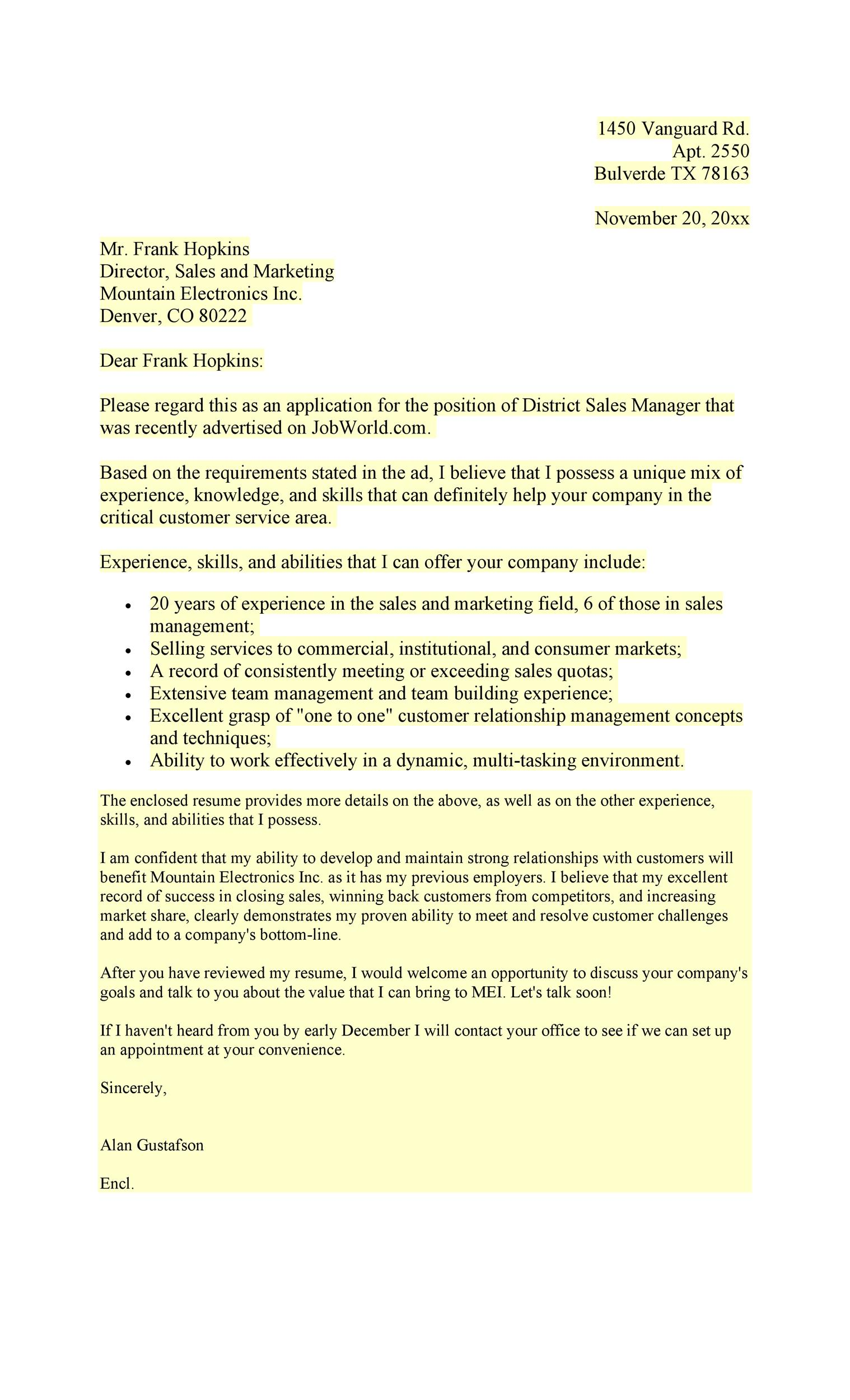 Free letter of application 47