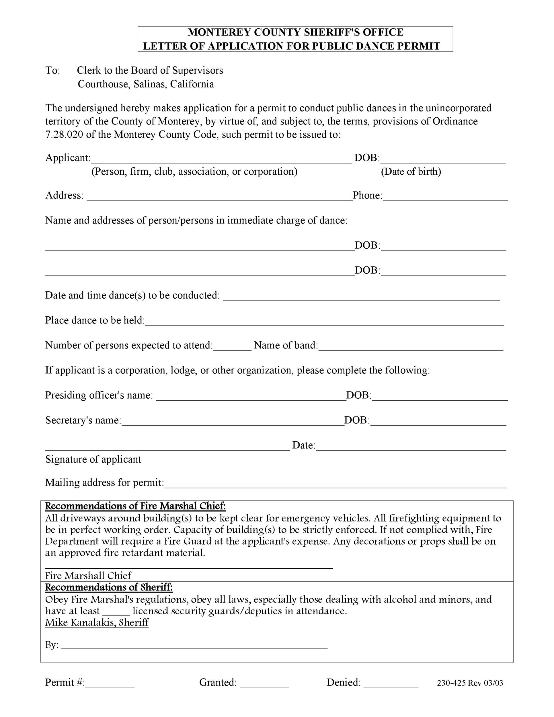 Free letter of application 48