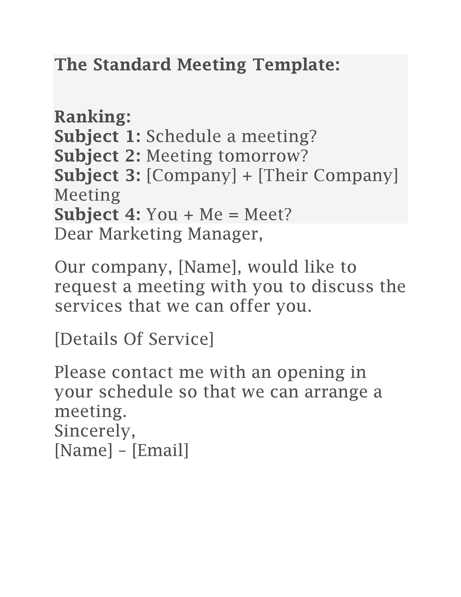 Free meeting request email 33