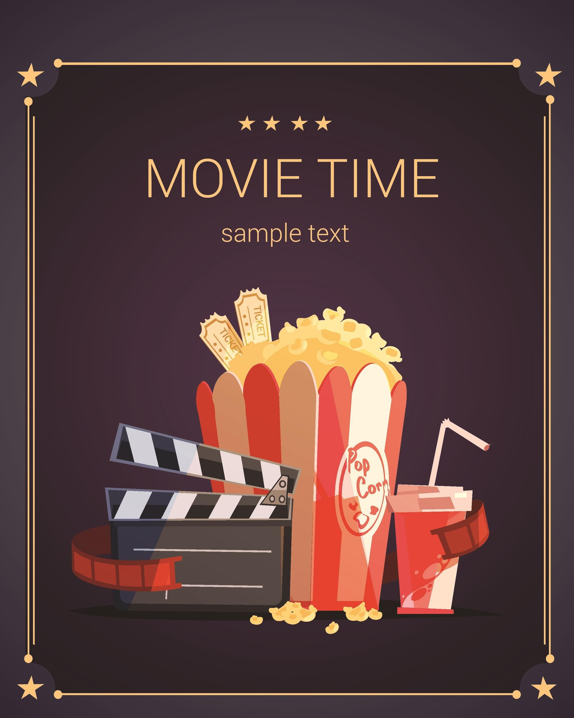 Free movie poster template 02