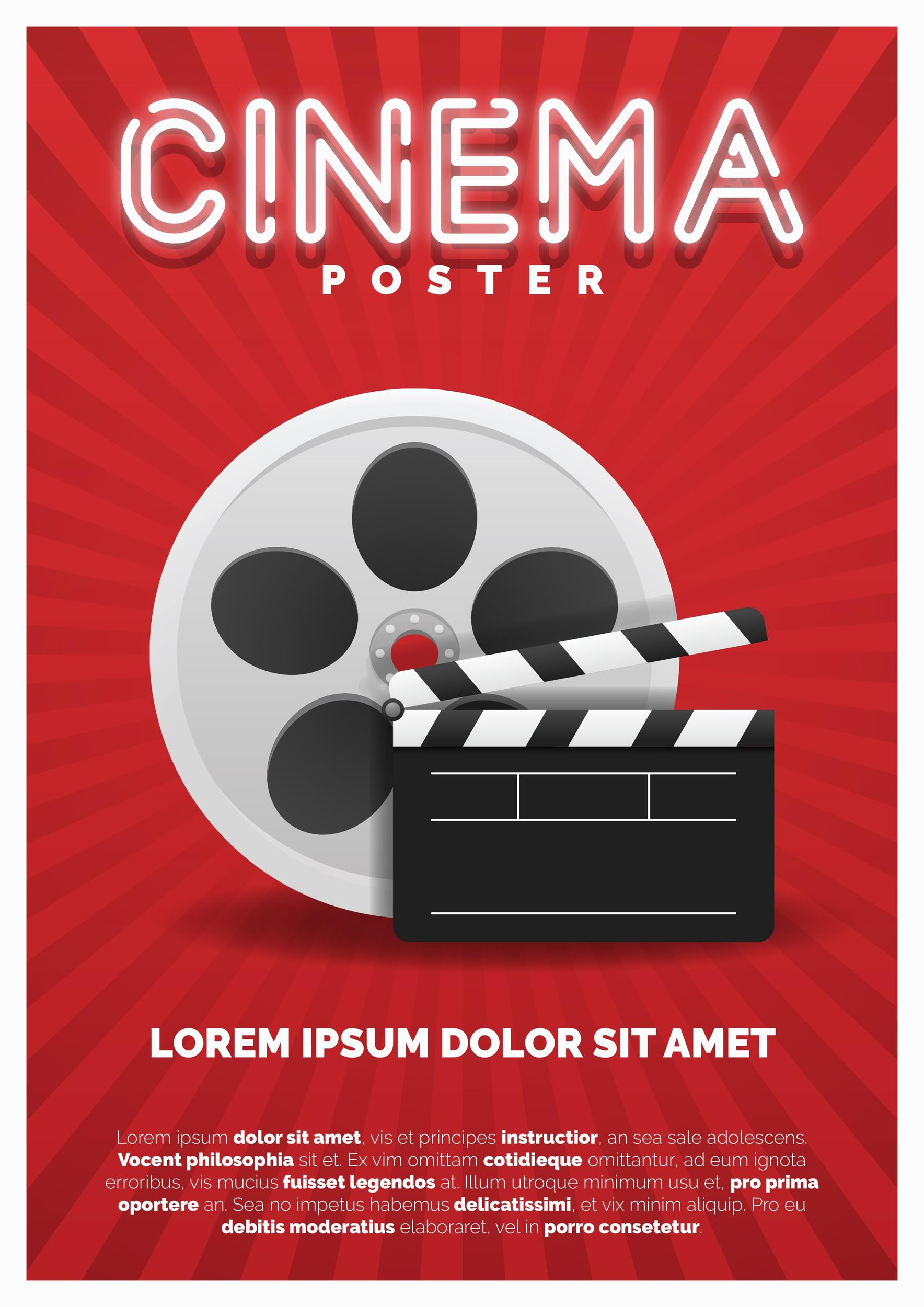 Free movie poster template 03