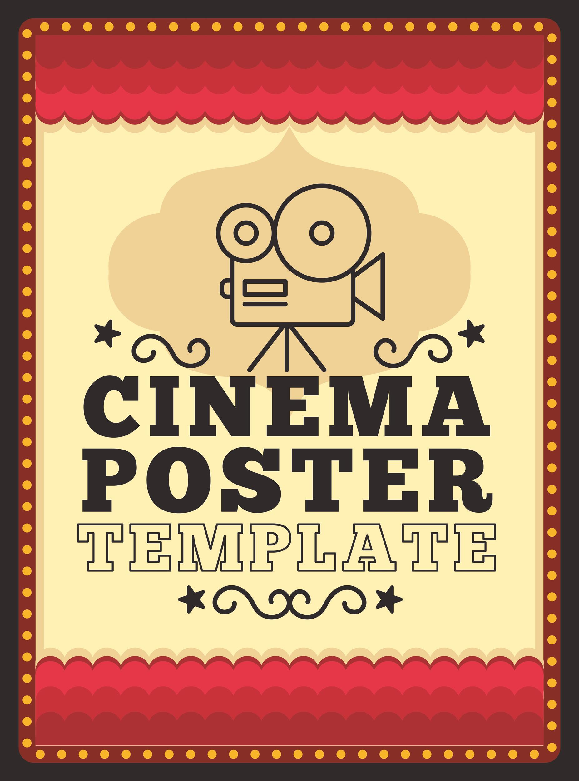 Free movie poster template 04
