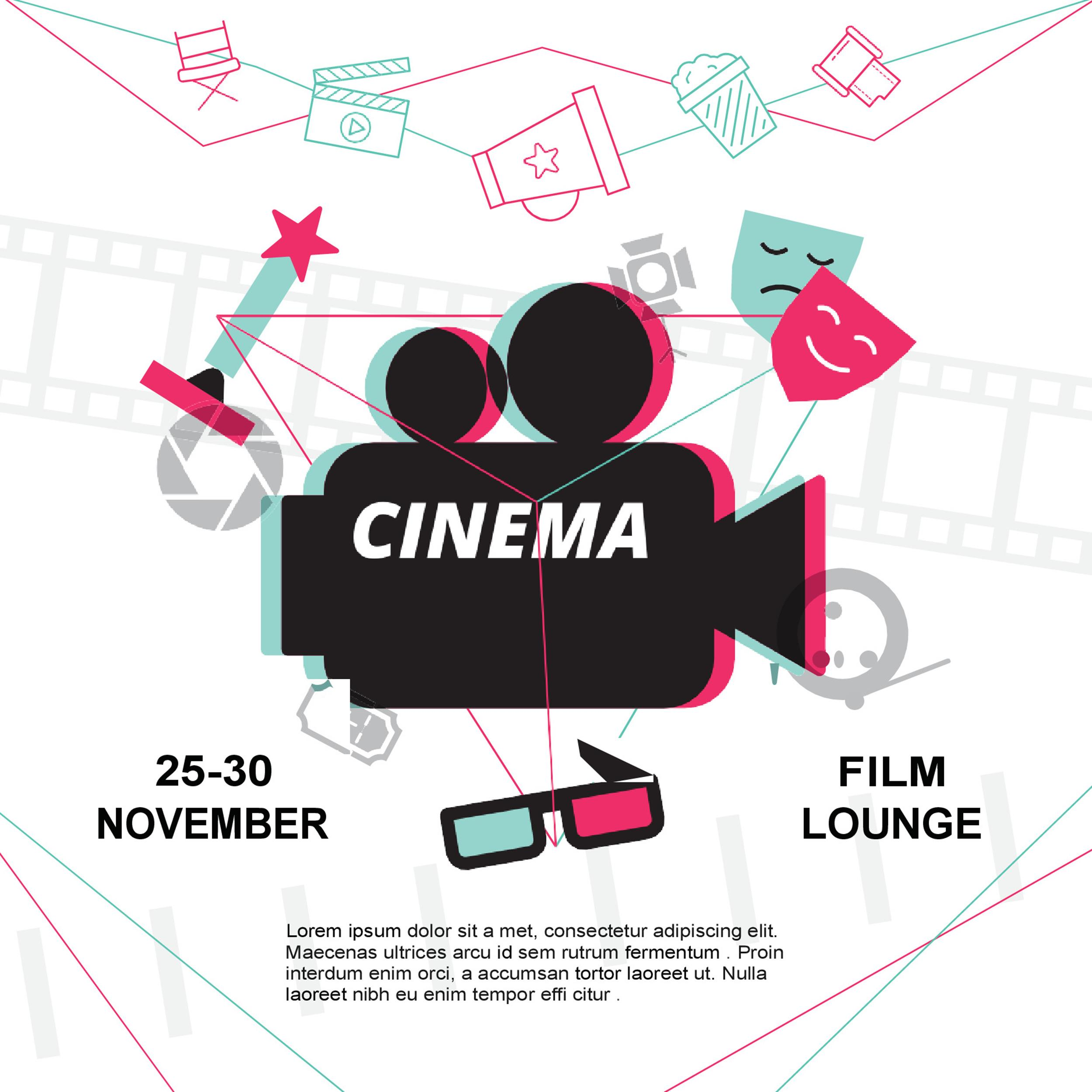Free movie poster template 05