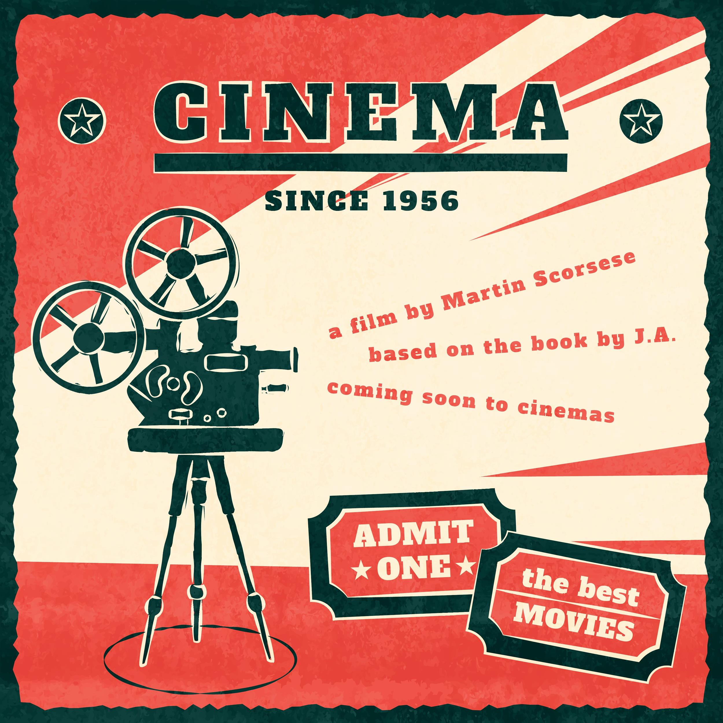Free movie poster template 08