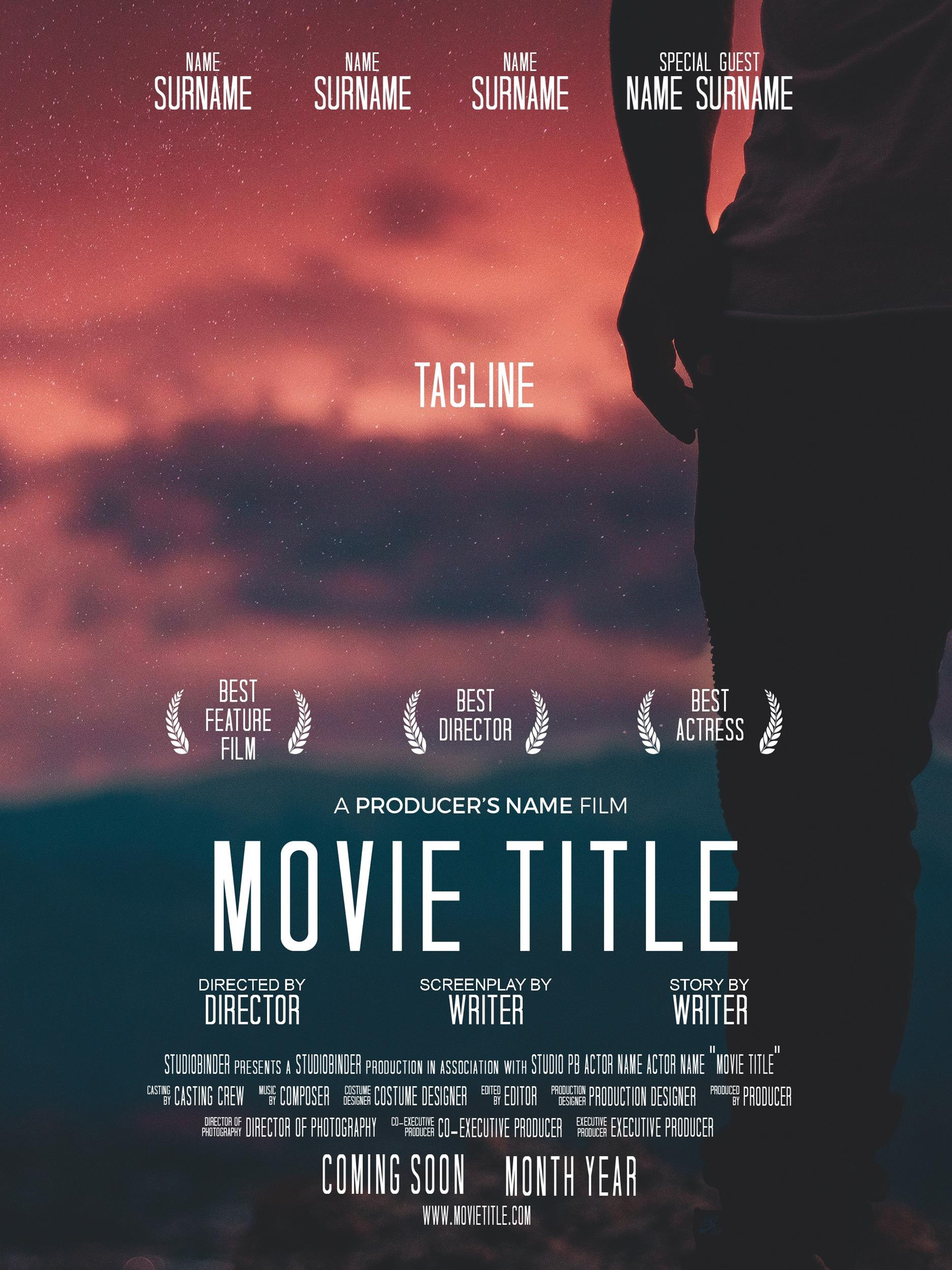 Free movie poster template 10