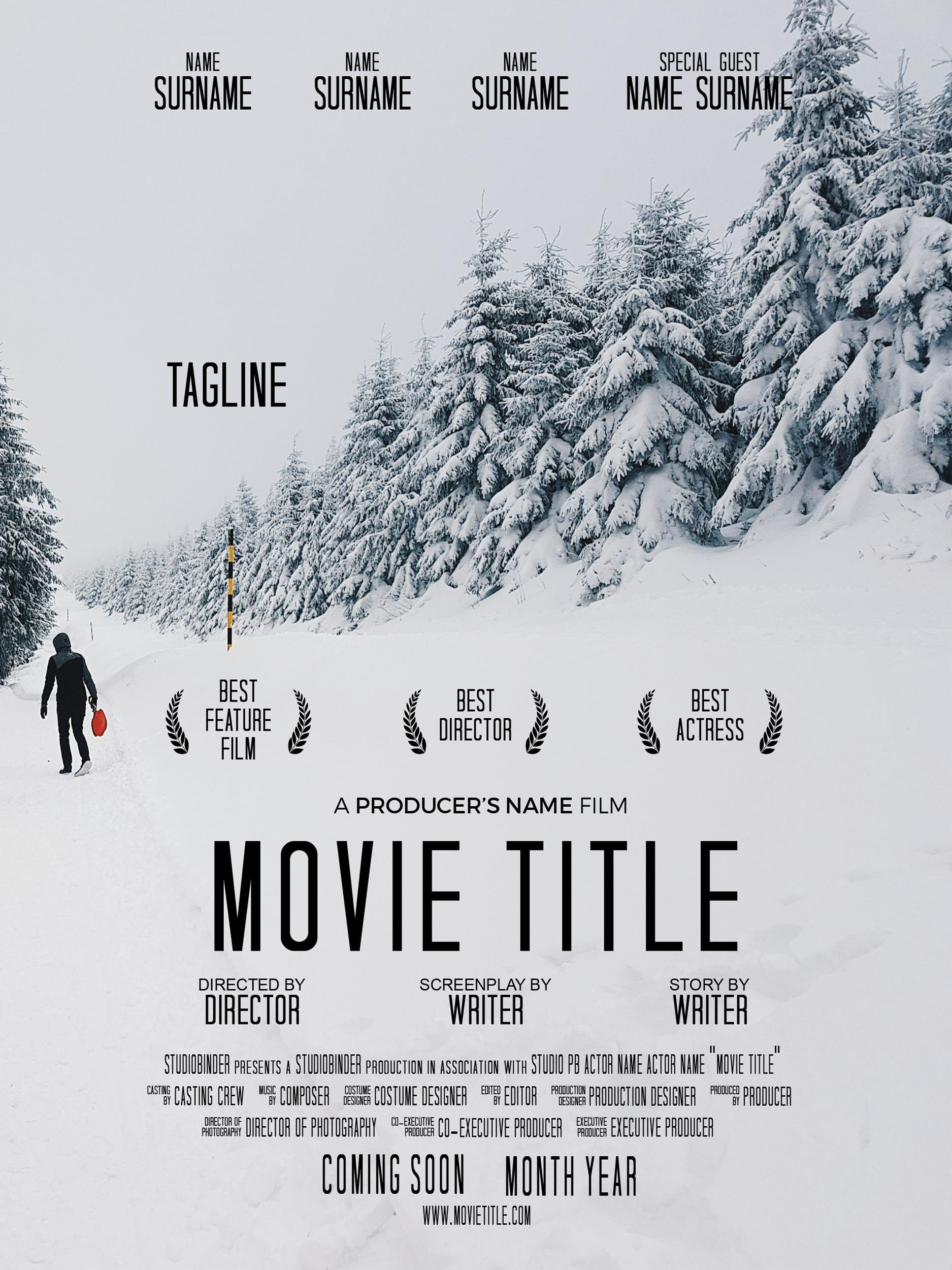 Free movie poster template 11