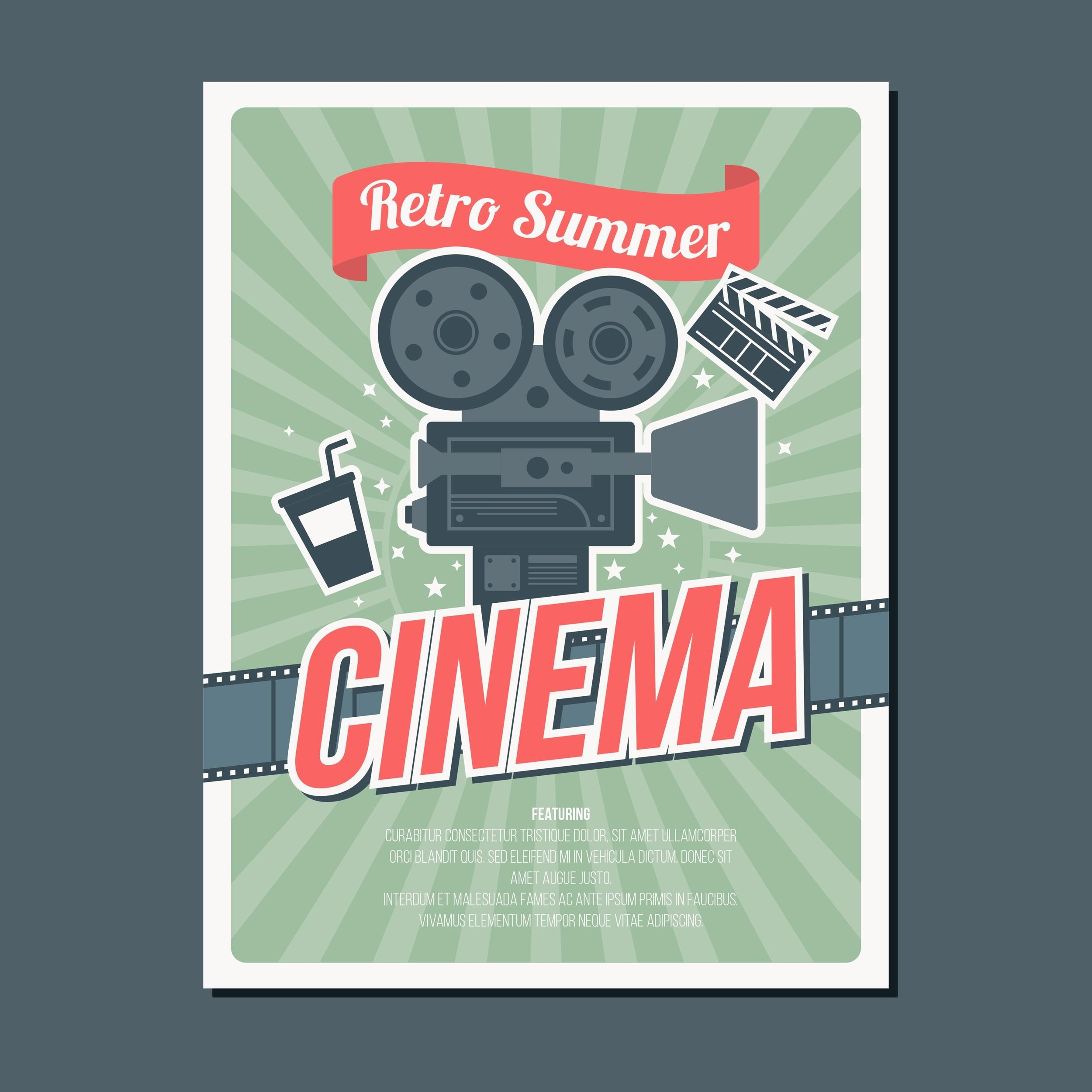 Free movie poster template 13