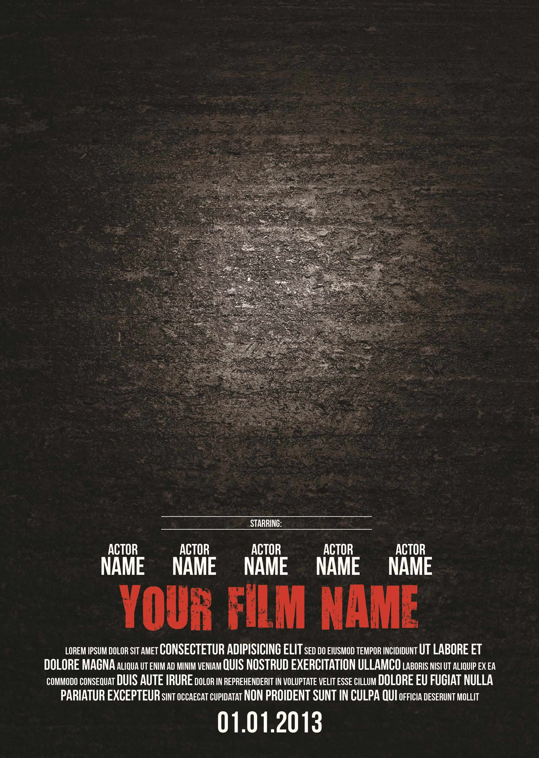 Free movie poster template 14