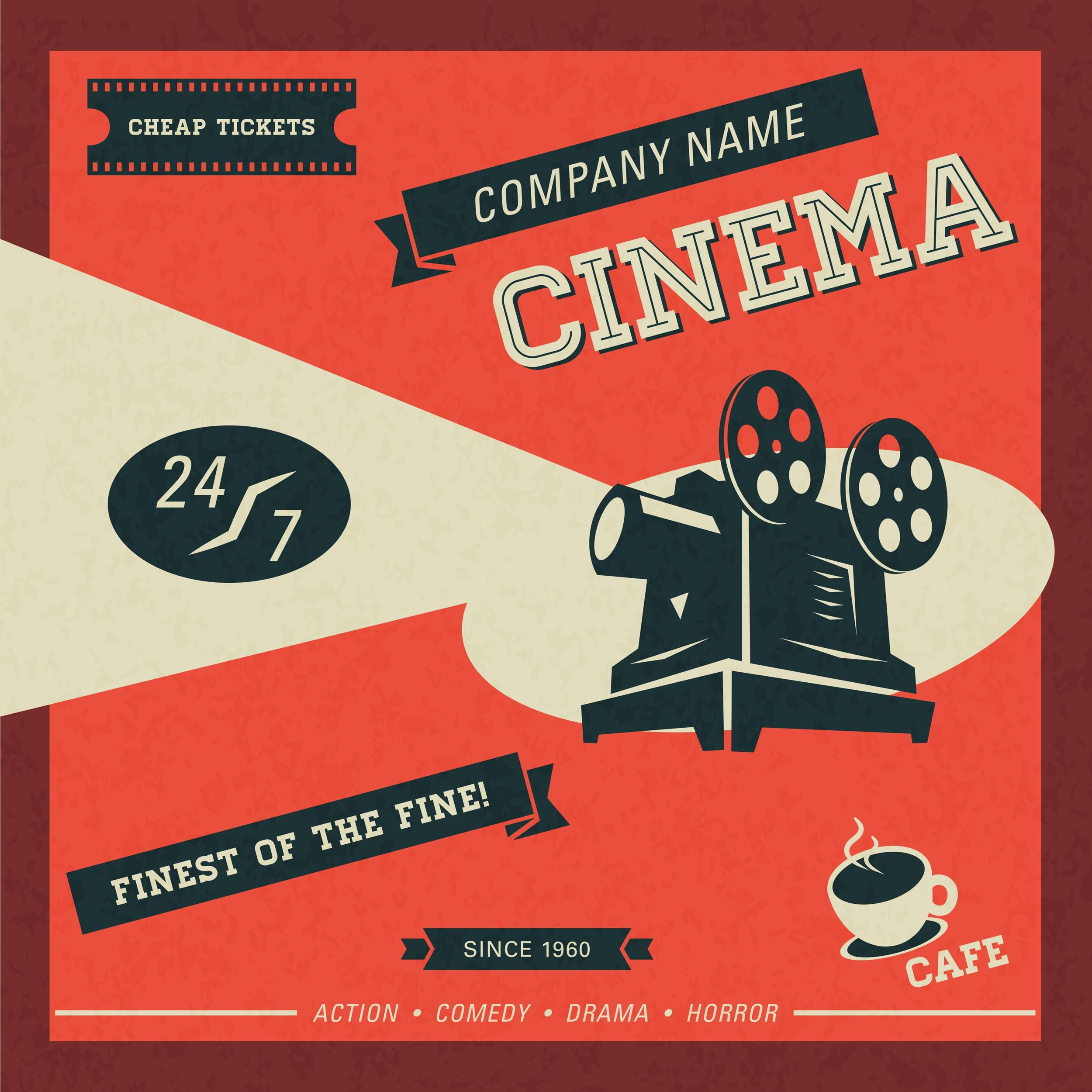 Free movie poster template 17