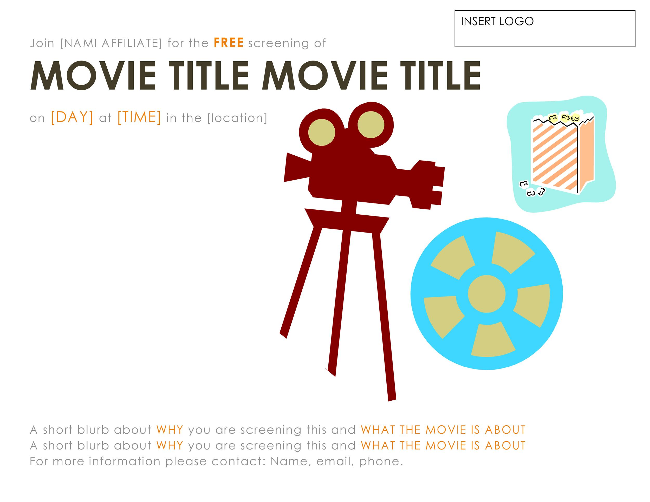 Free movie poster template 28