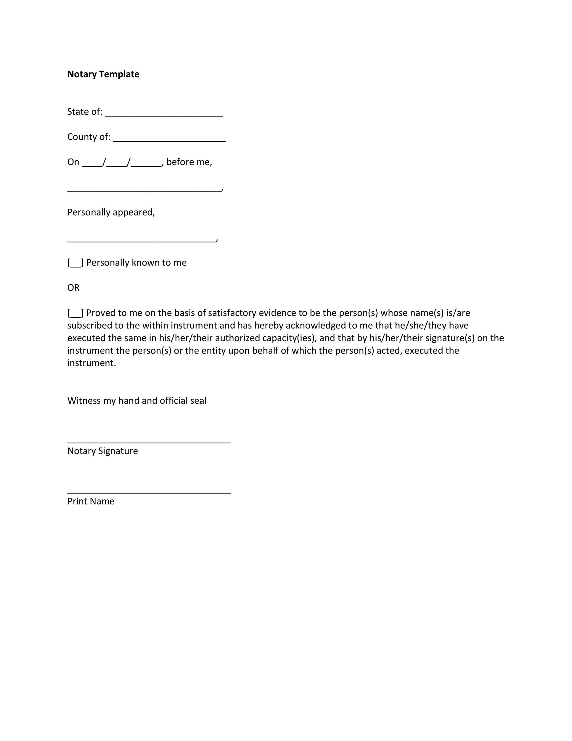 Free notary acknowledgement 04