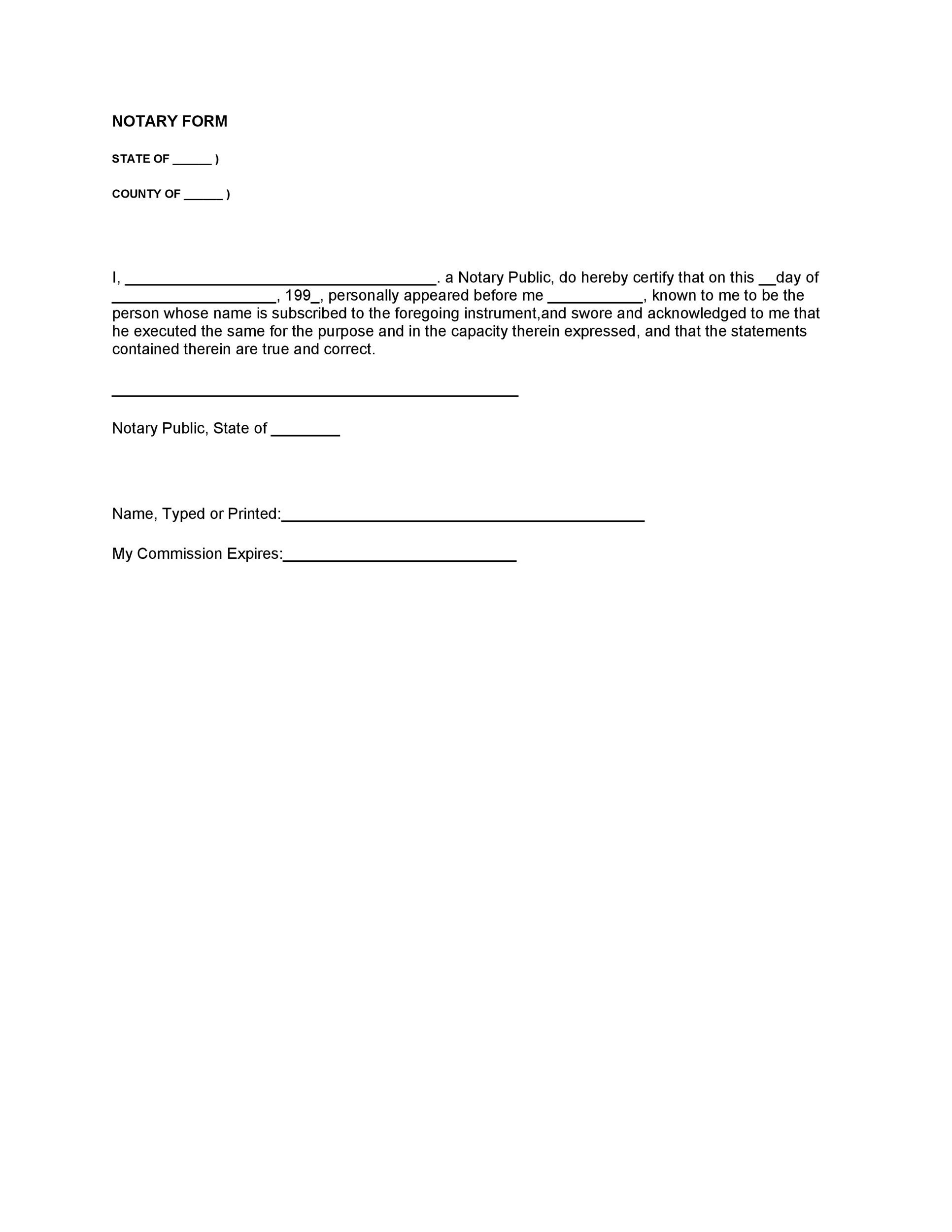 Free notary acknowledgement 08