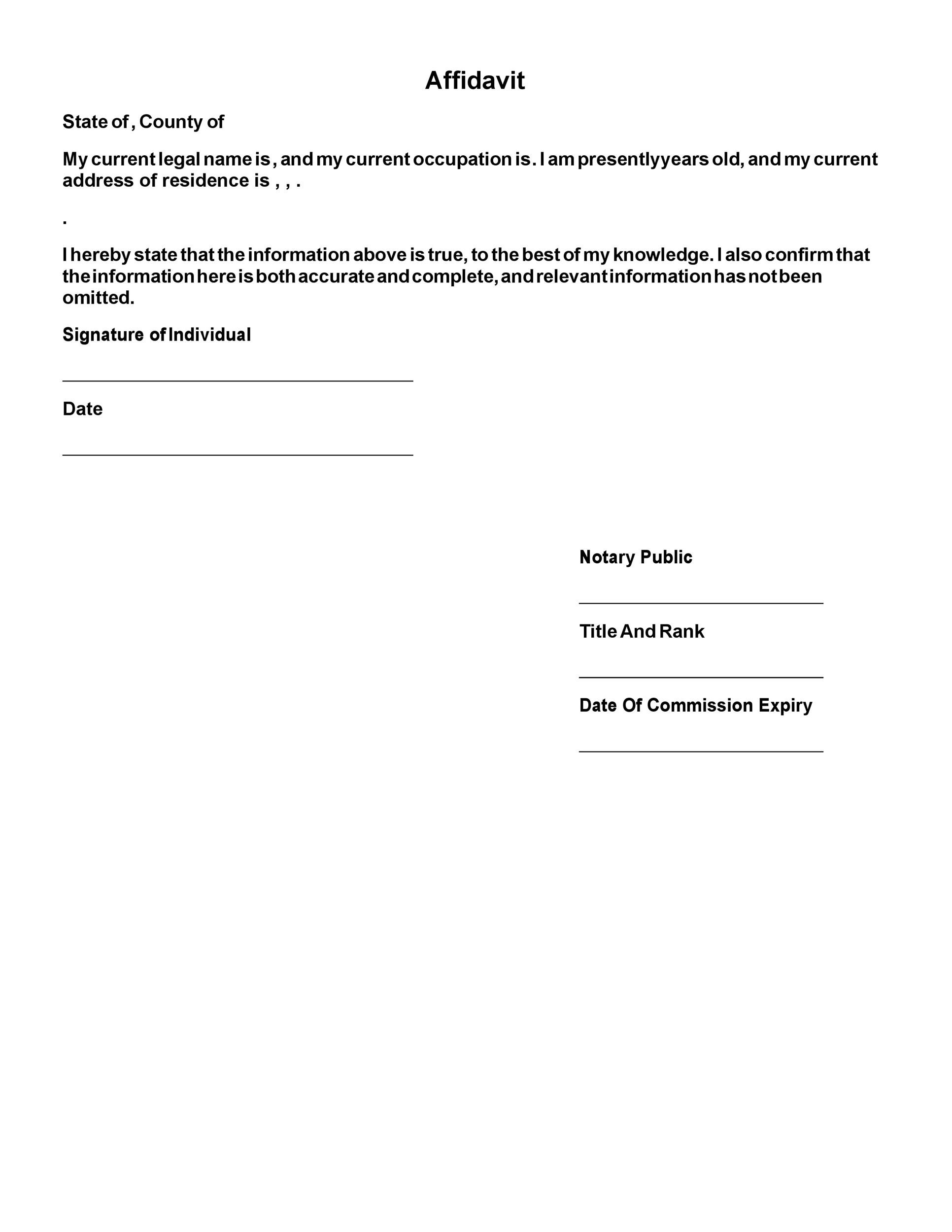 Free notary acknowledgement 09