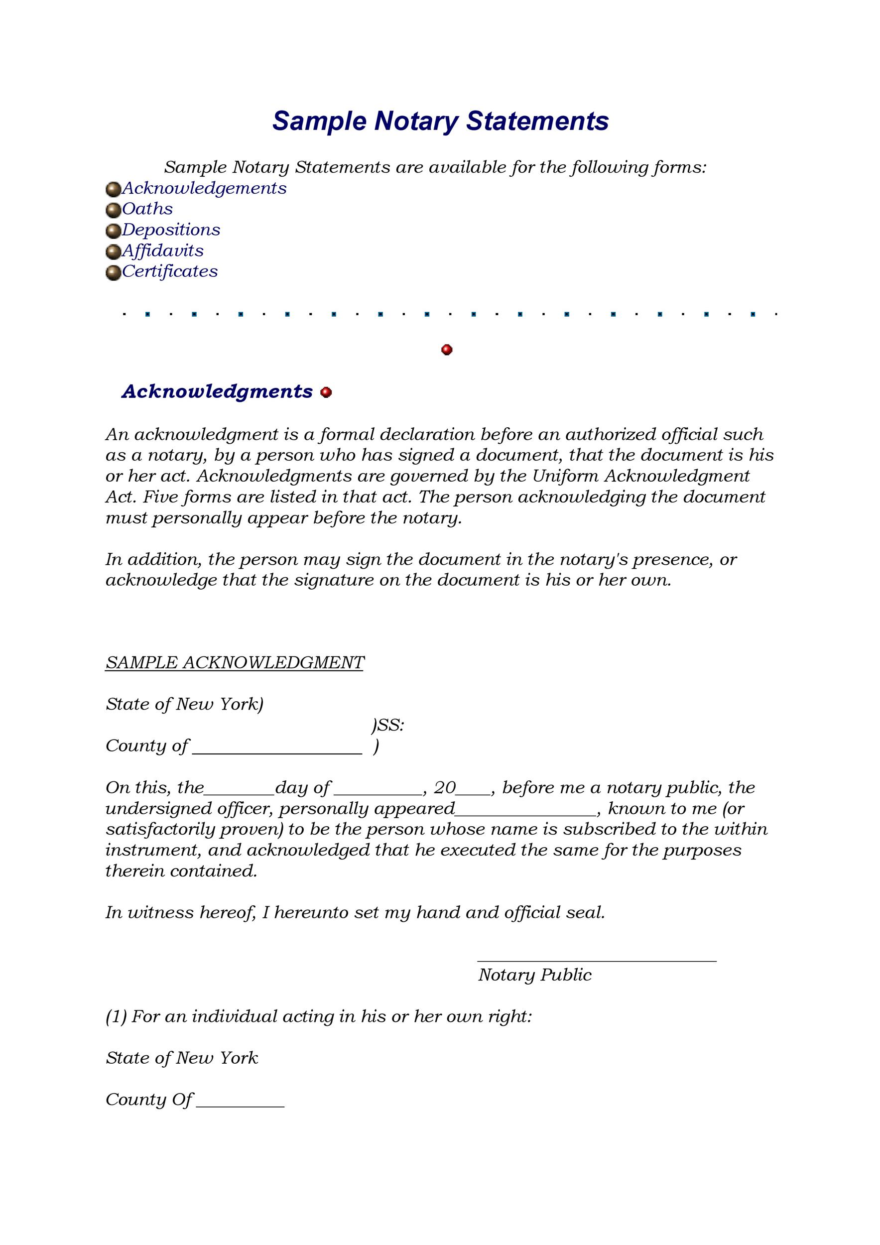 Free notary acknowledgement 17