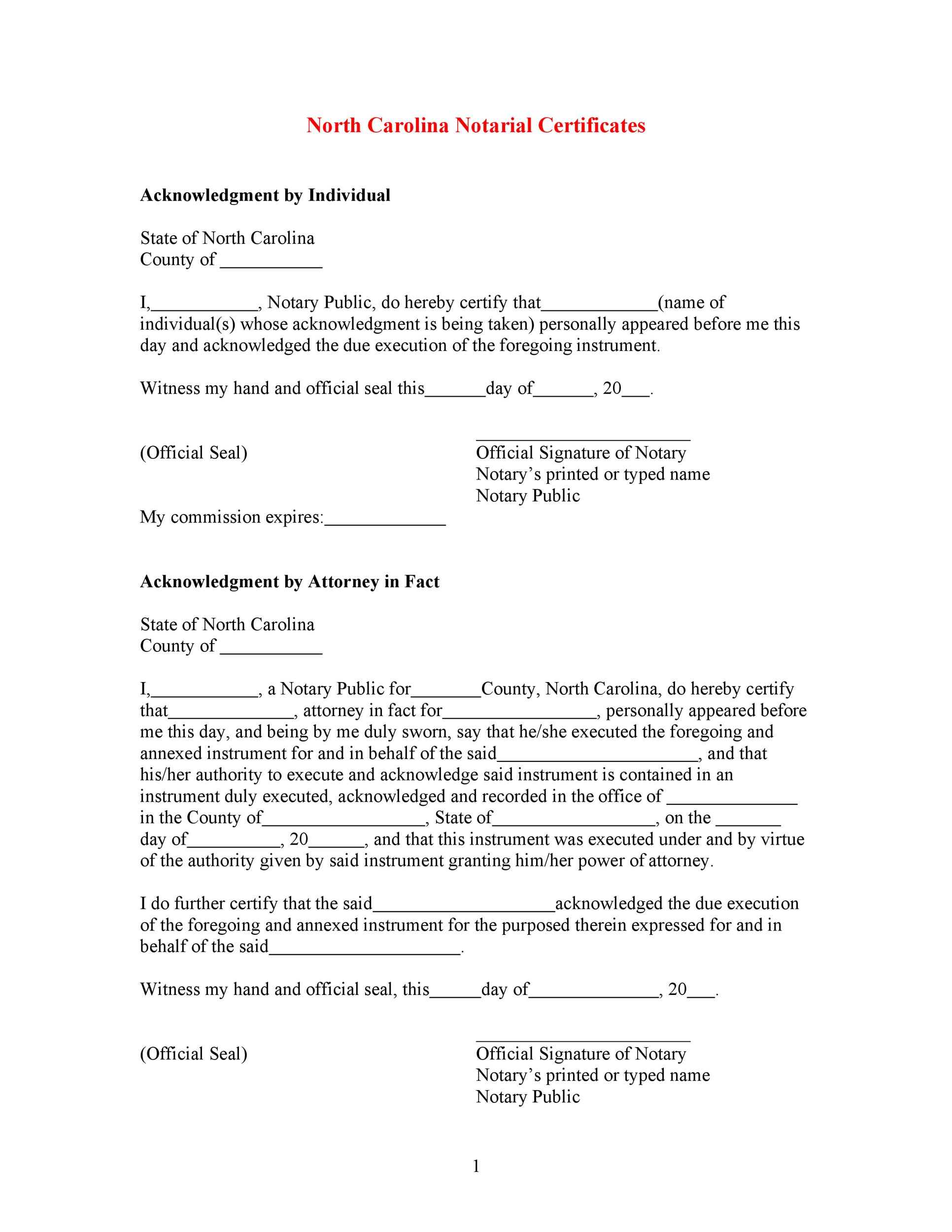 Free notary acknowledgement 21
