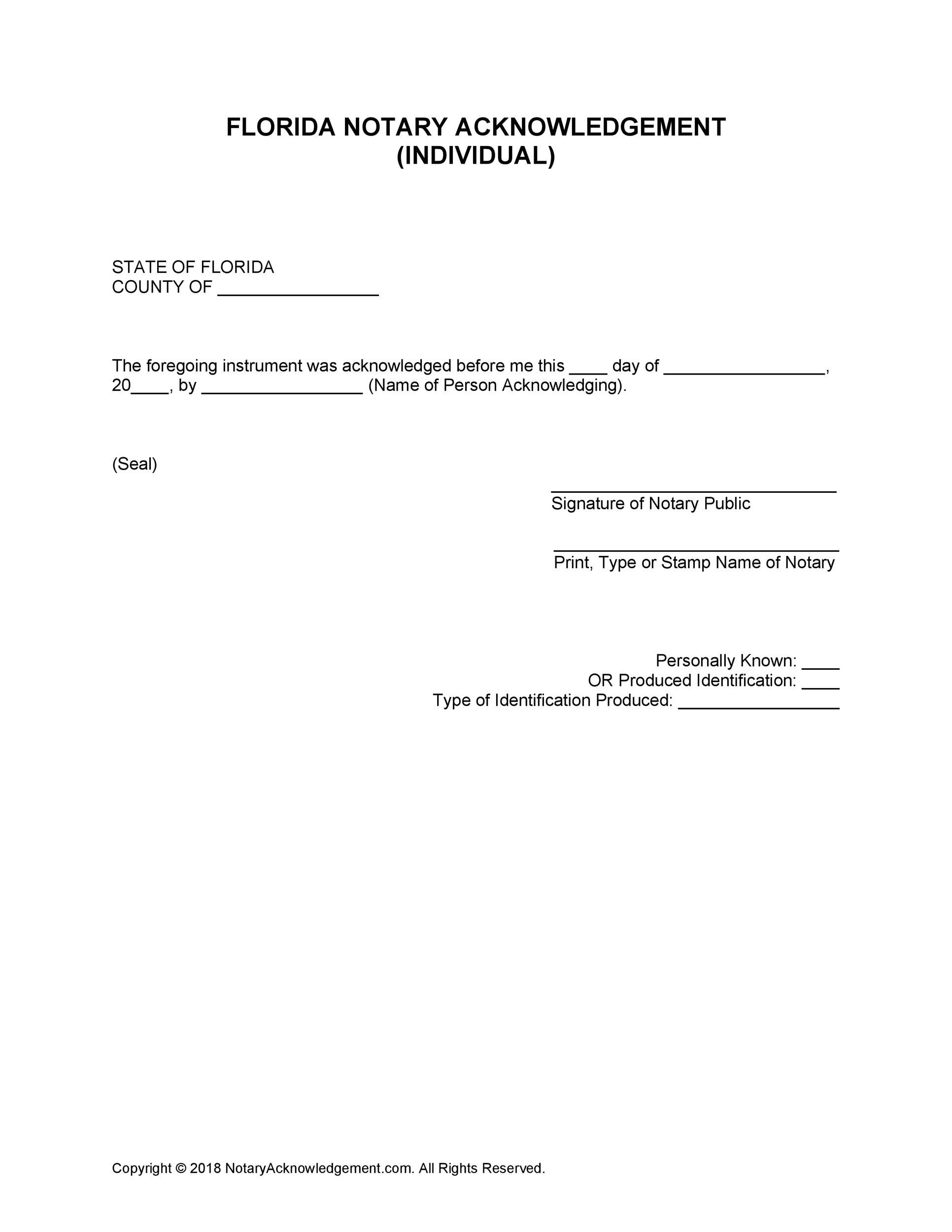 Free notary acknowledgement 22