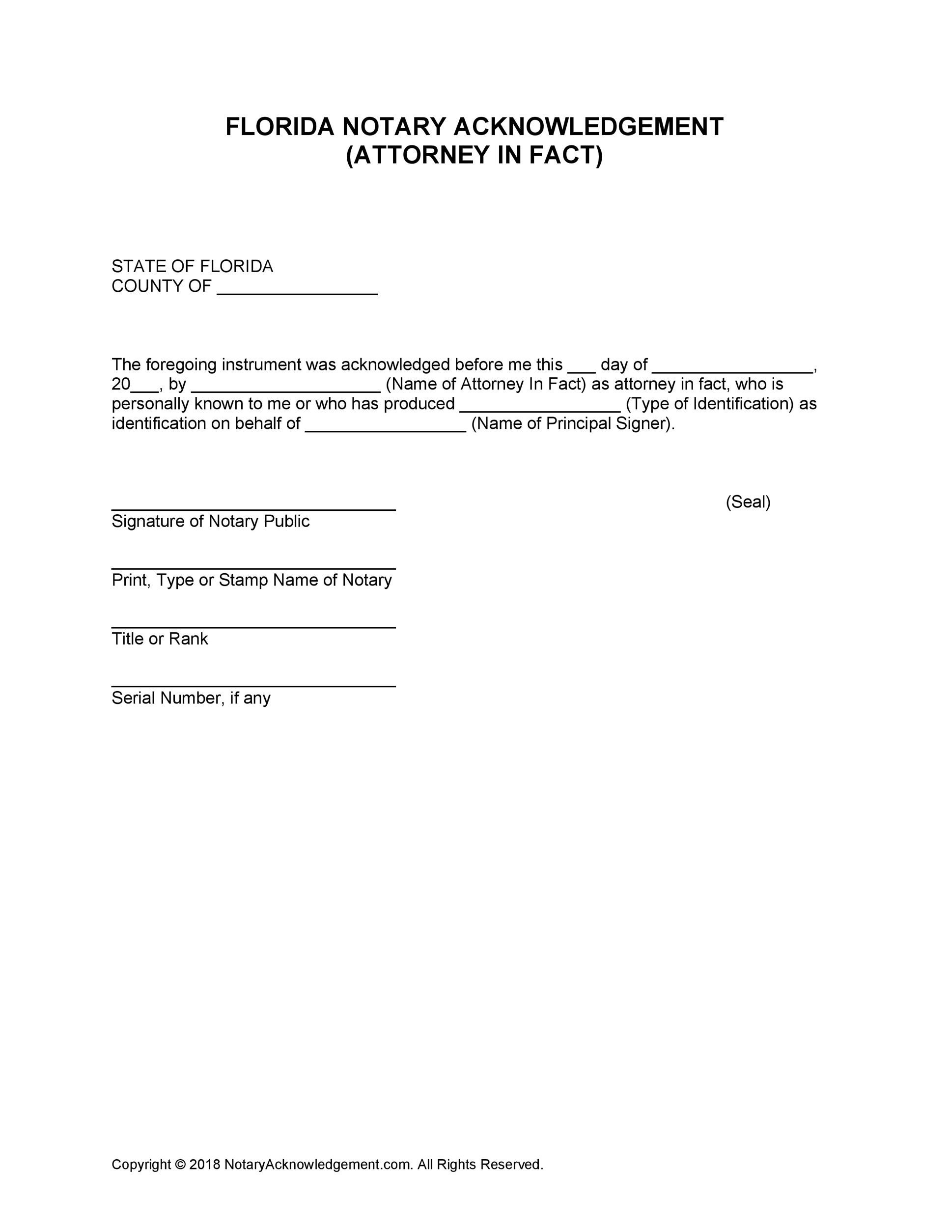 Free notary acknowledgement 23