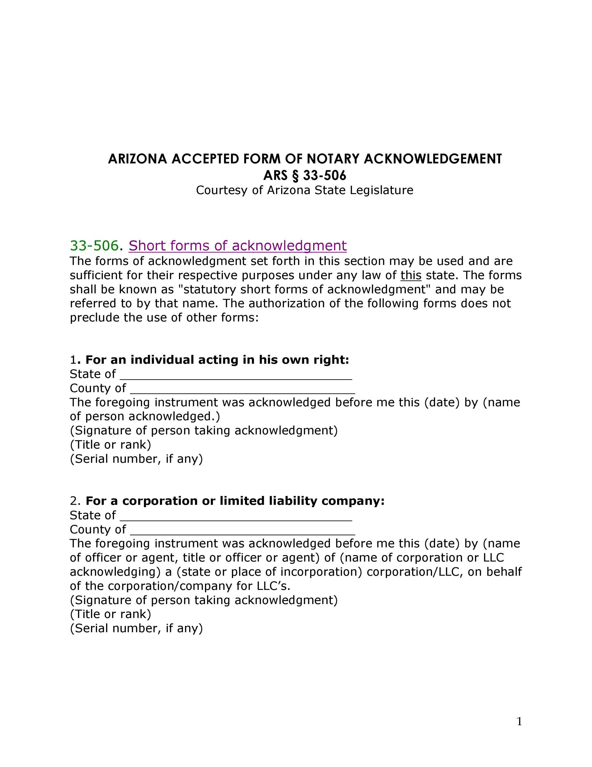 Free notary acknowledgement 31