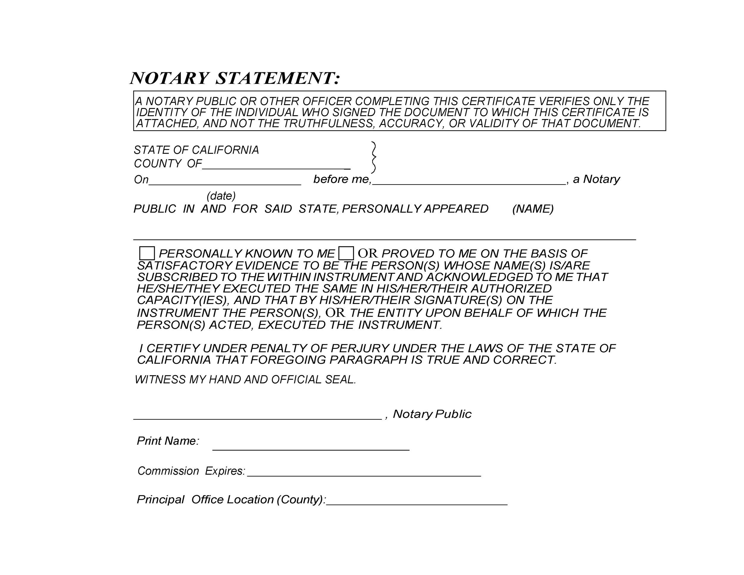 Free notary acknowledgement 32