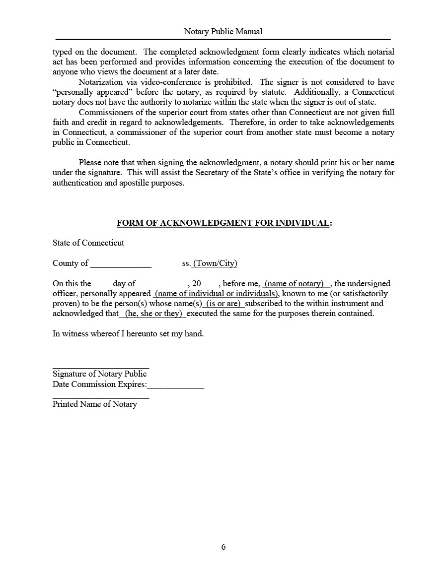 Free notary acknowledgement 36