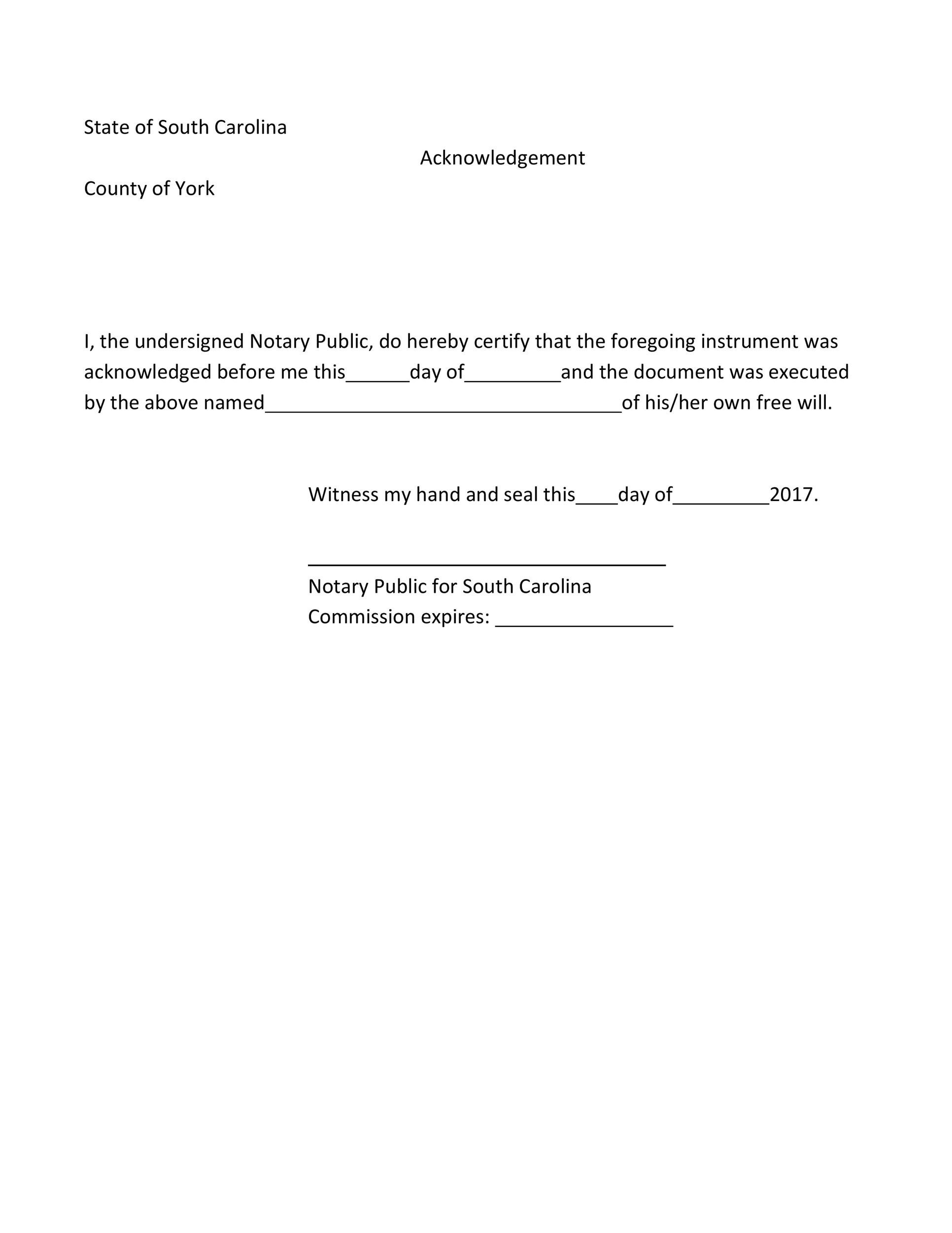 Free notary acknowledgement 42