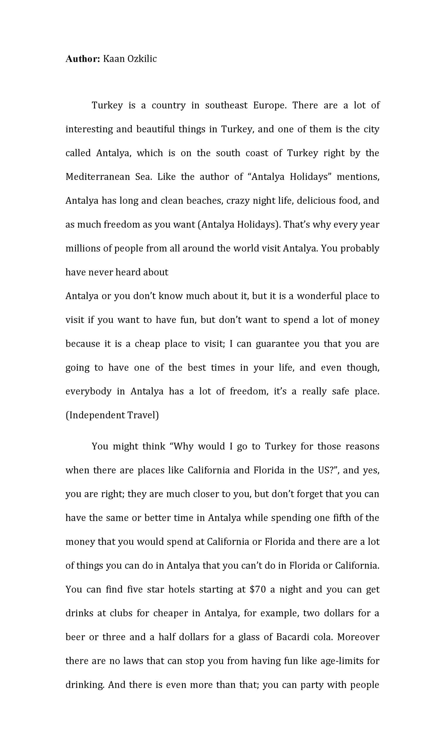 Example Of A Persuasive Essay