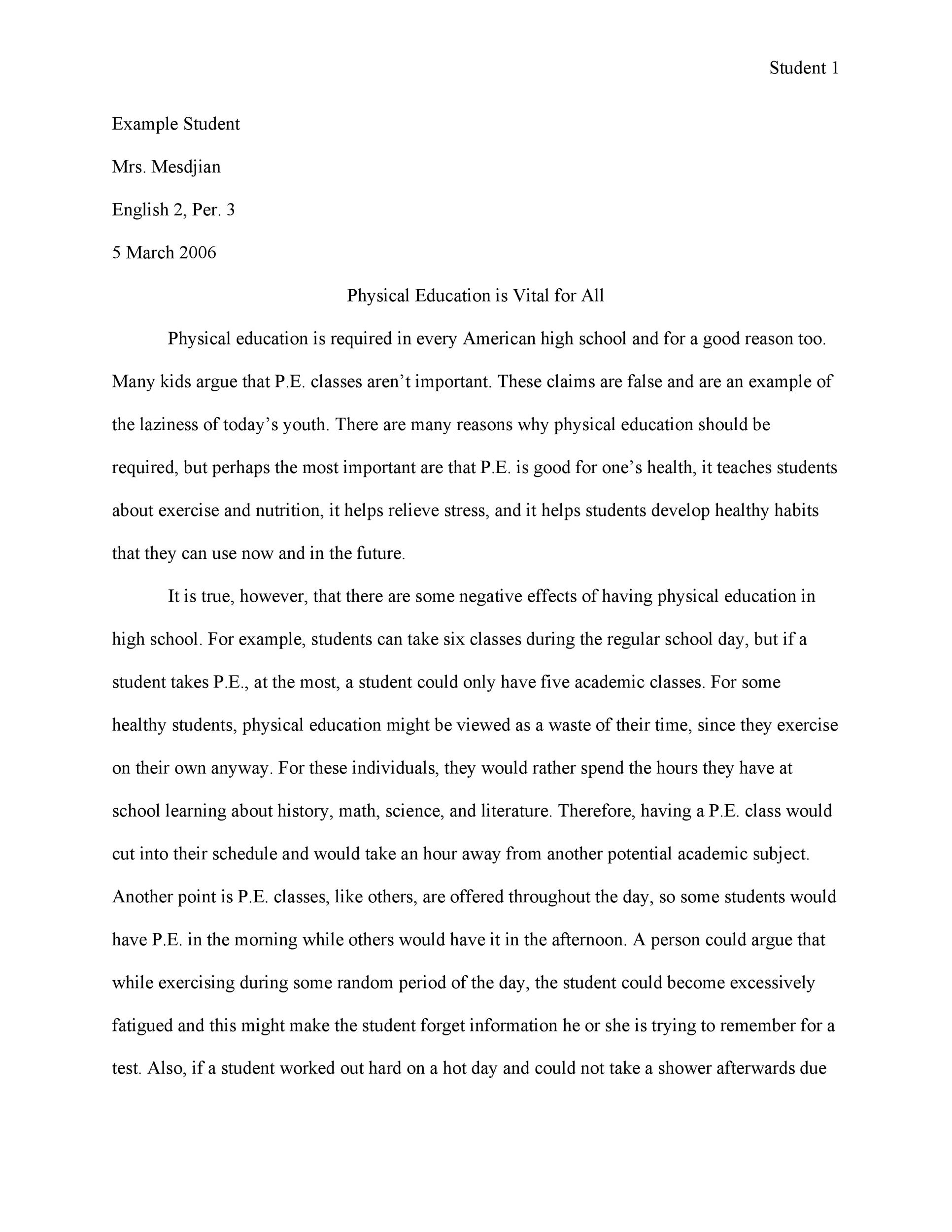What Is Thesis In Essay  Essay About Science also Essay On Health And Fitness  Free Persuasive Essay Examples Best Topics  Template Lab How To Start A Science Essay