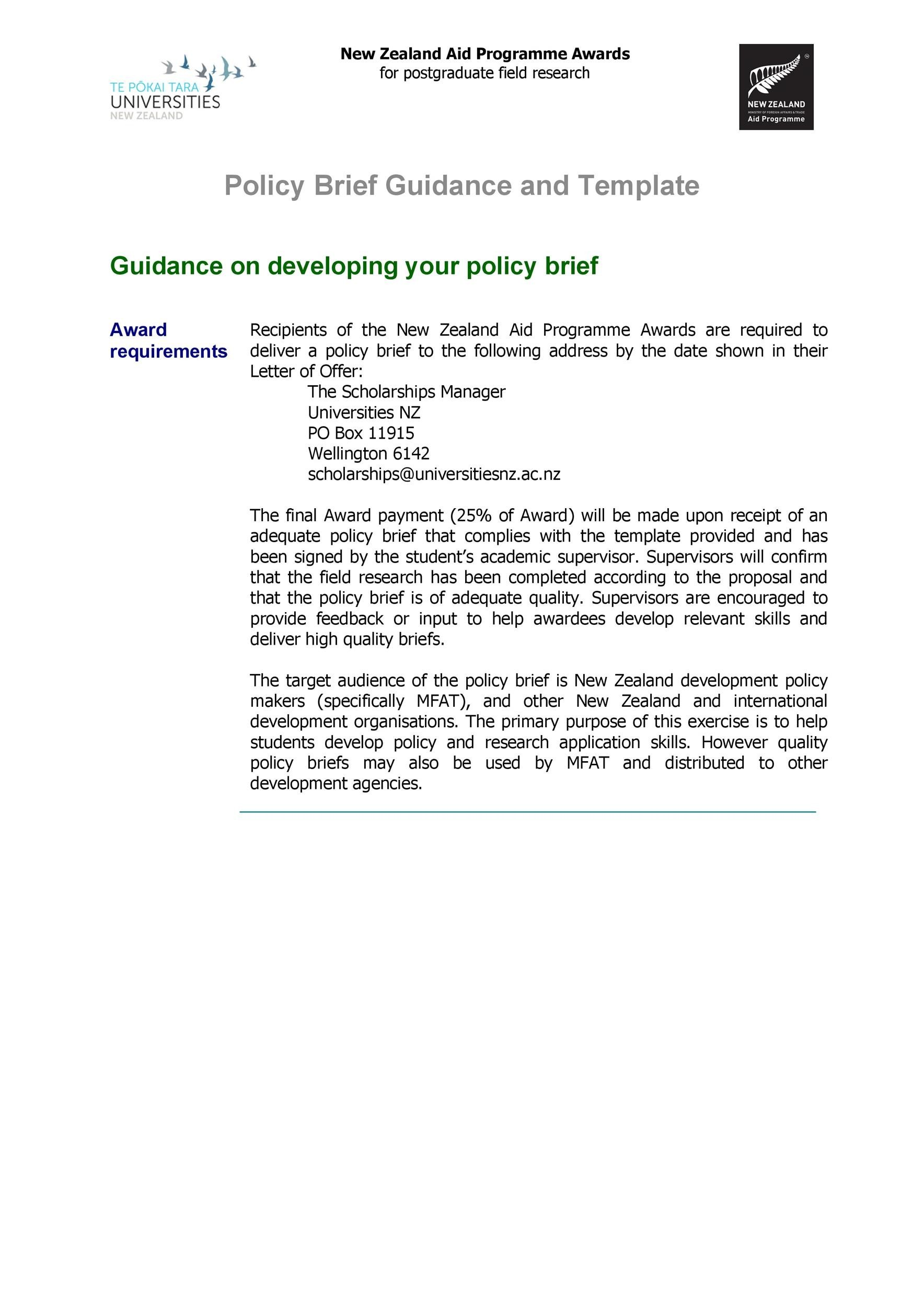 Free policy brief template 03