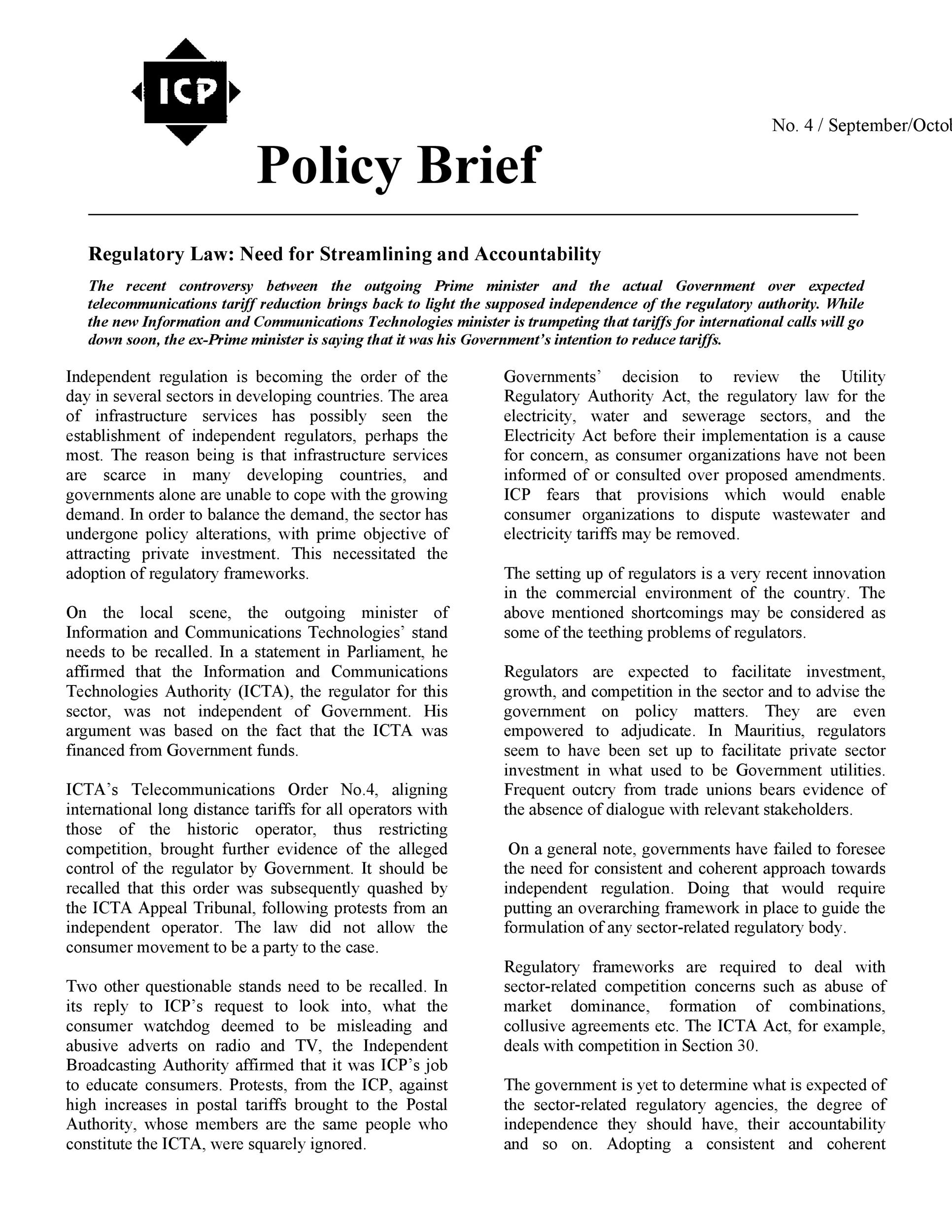 Free policy brief template 17