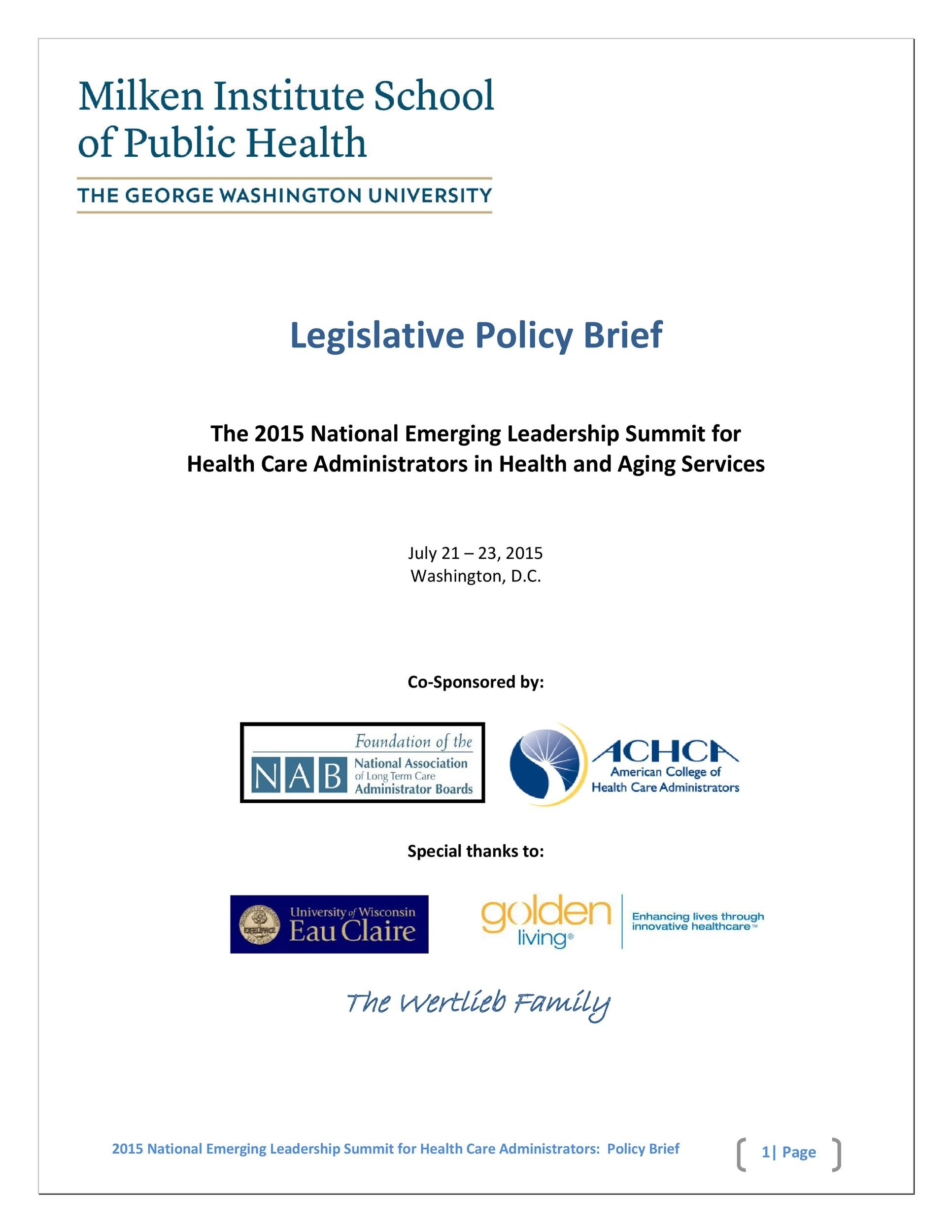 Free policy brief template 32