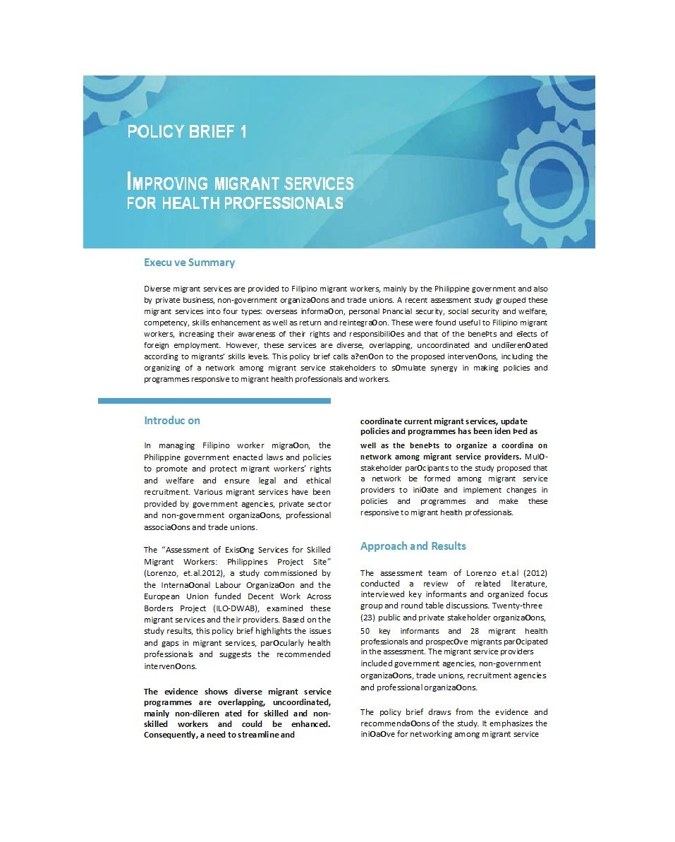 Free policy brief template 36