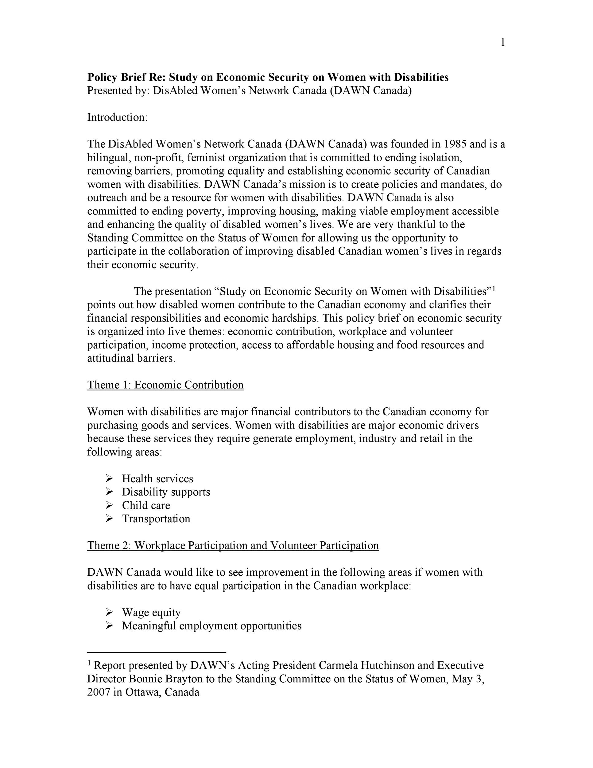 Free policy brief template 46