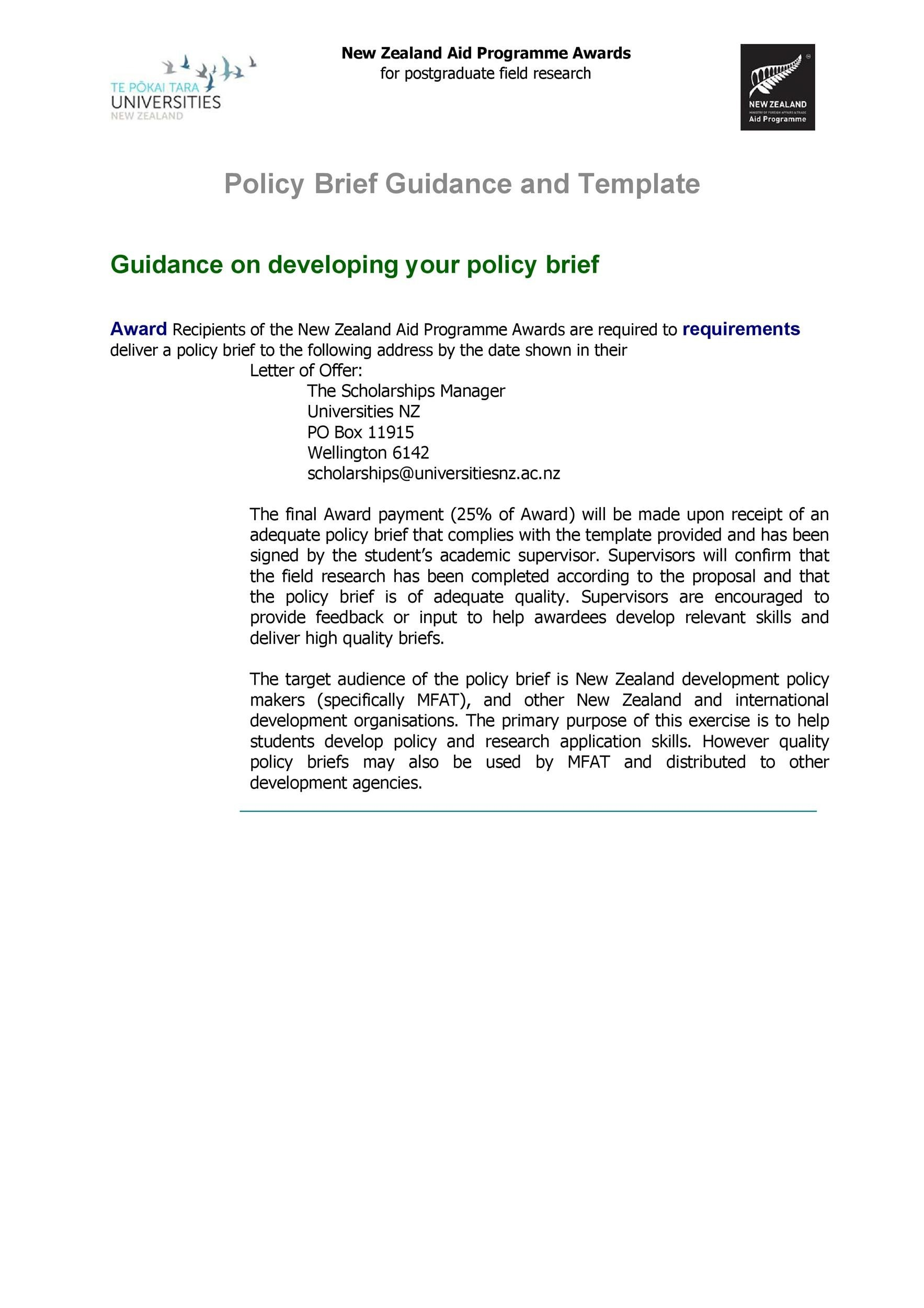 Free policy brief template 48