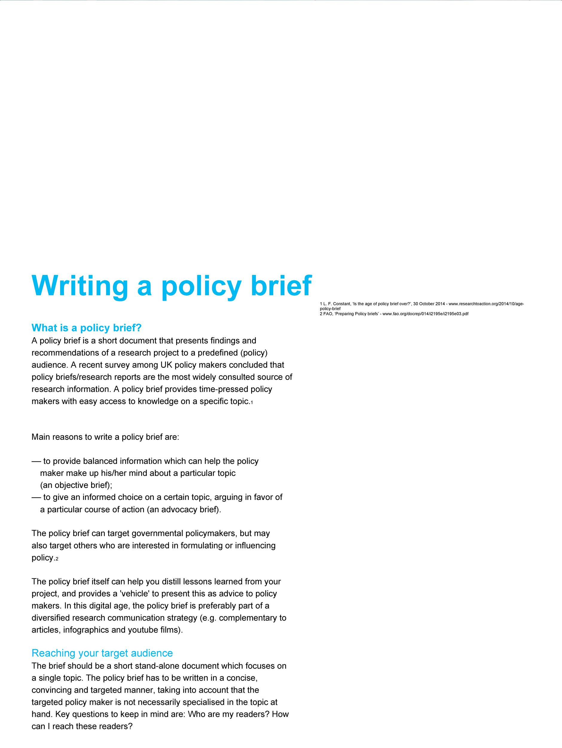 Free policy brief template 49