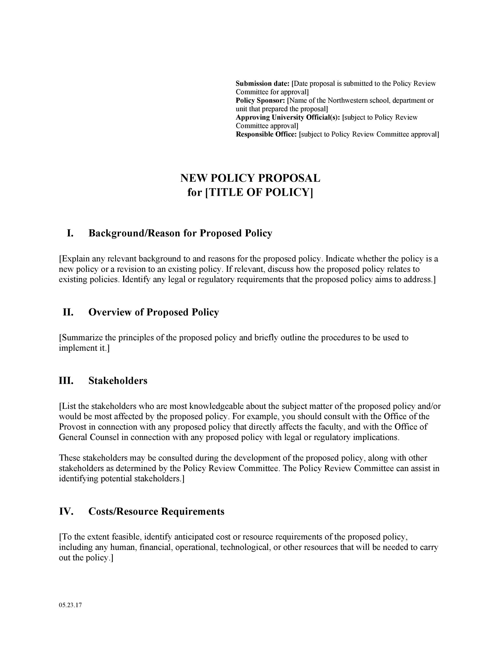 30 Professional Policy Proposal Templates Examples ᐅ
