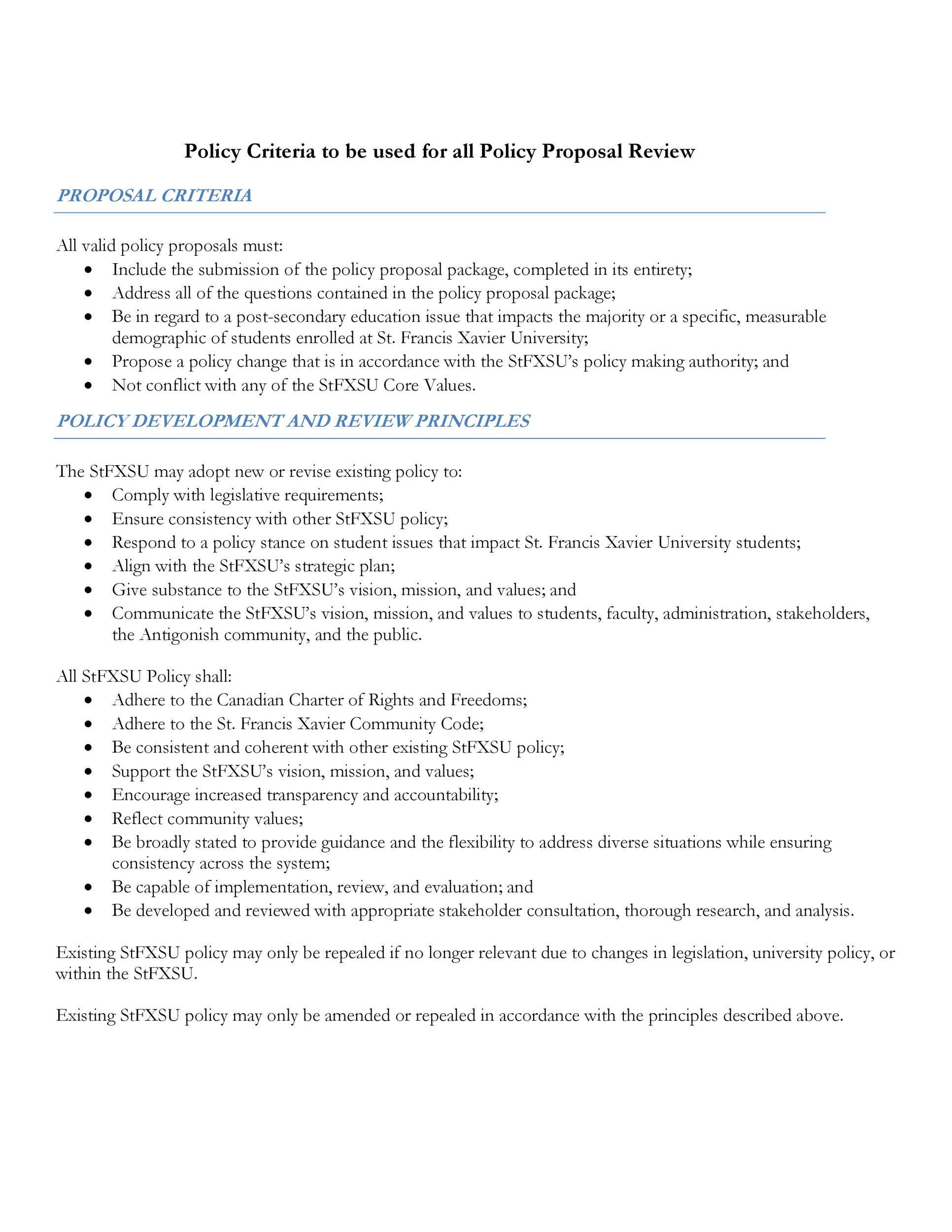 Free policy proposal template 13