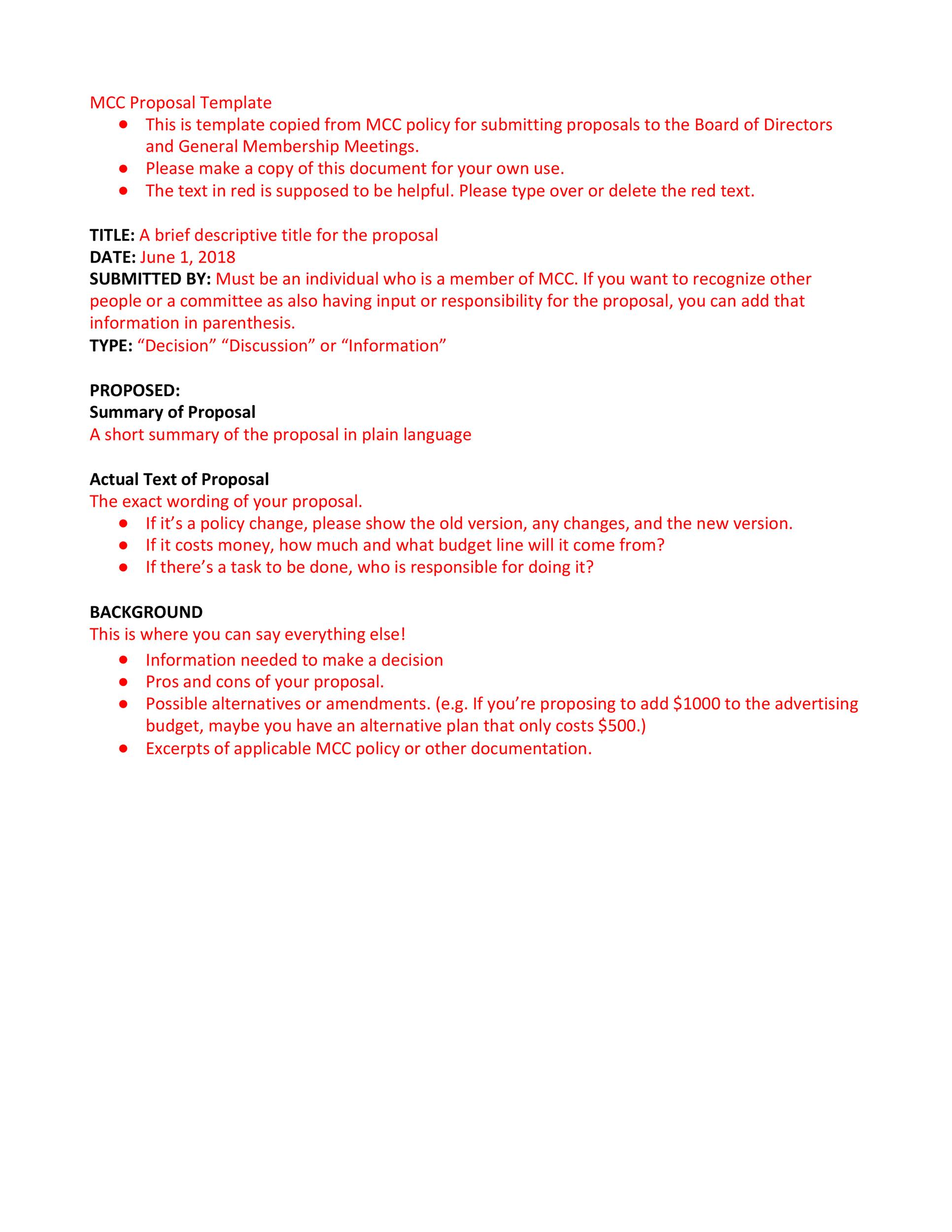 Free policy proposal template 29