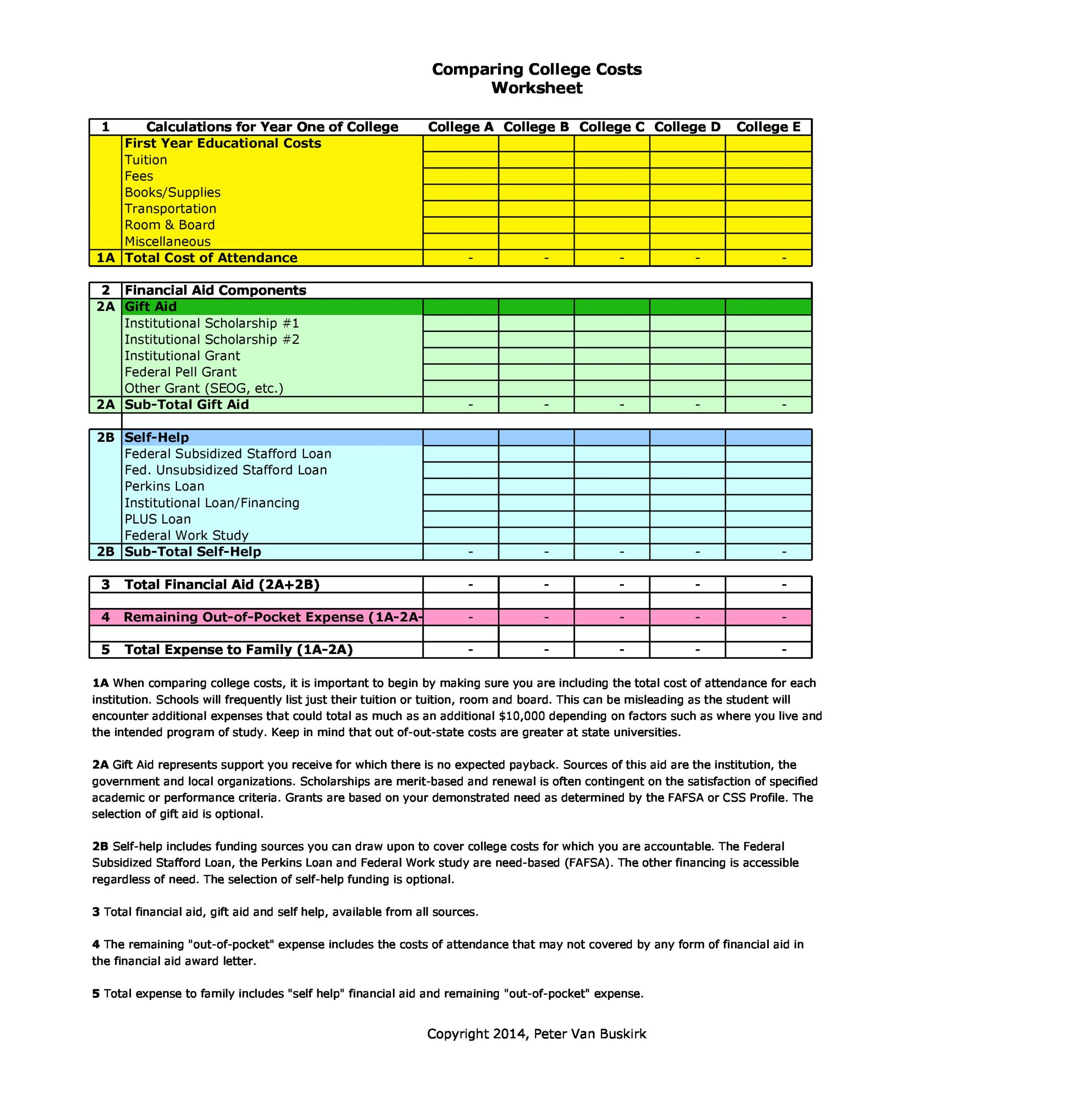 Free price comparison template 08