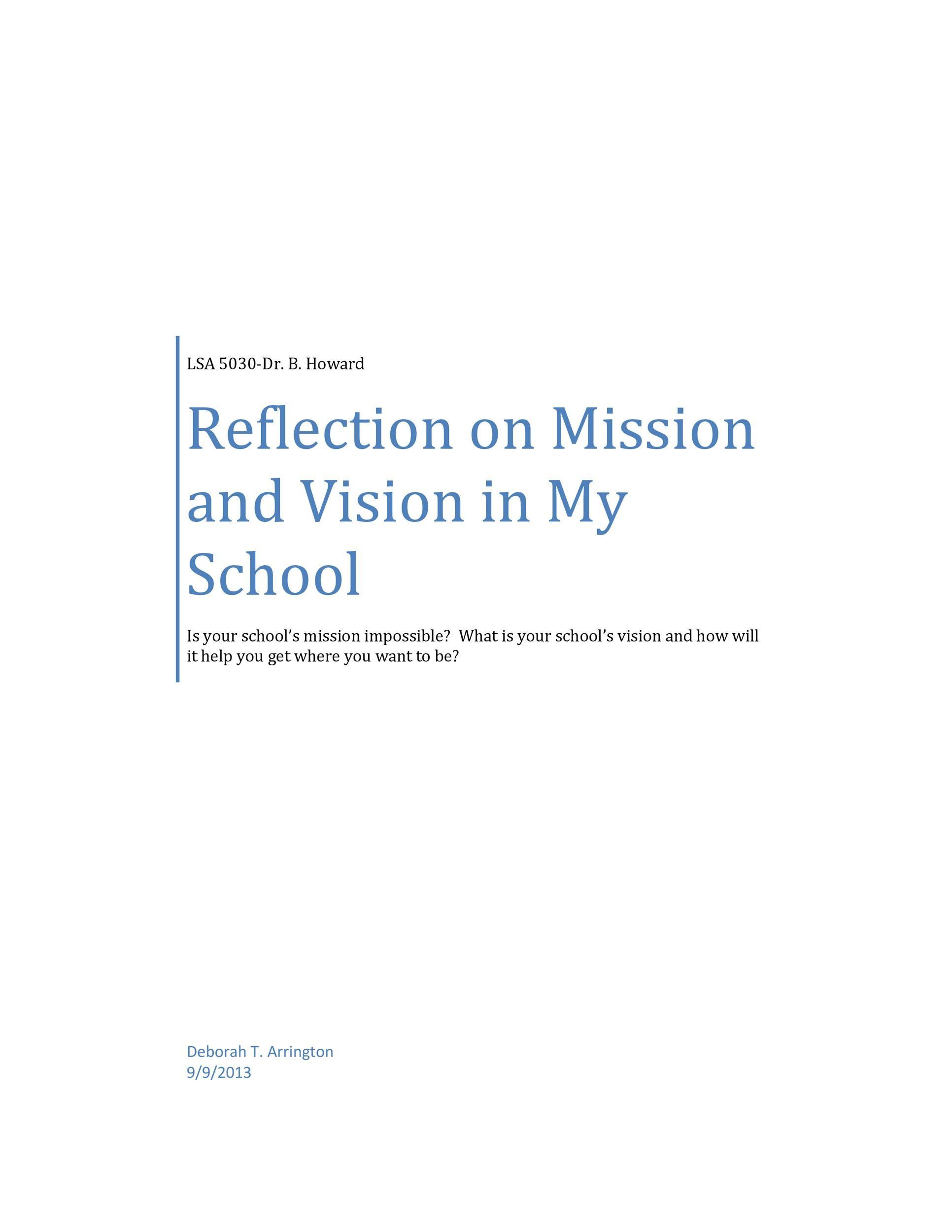 Free reflective essay example 13