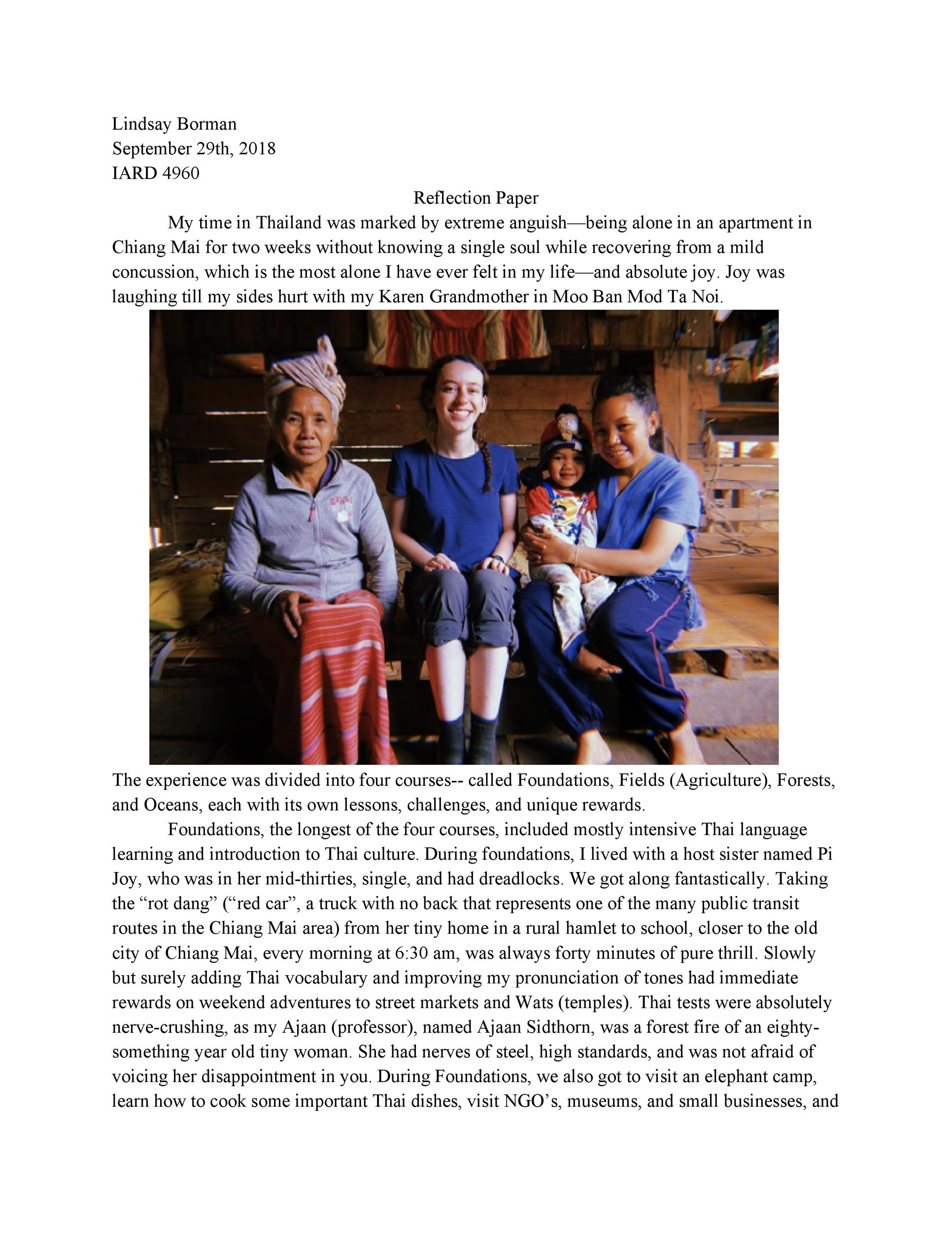 Free reflective essay example 17