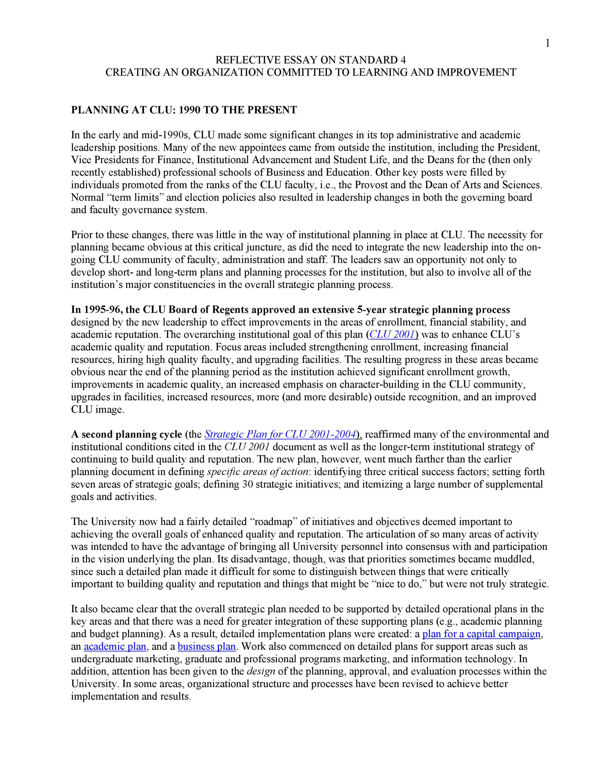 Free reflective essay example 31
