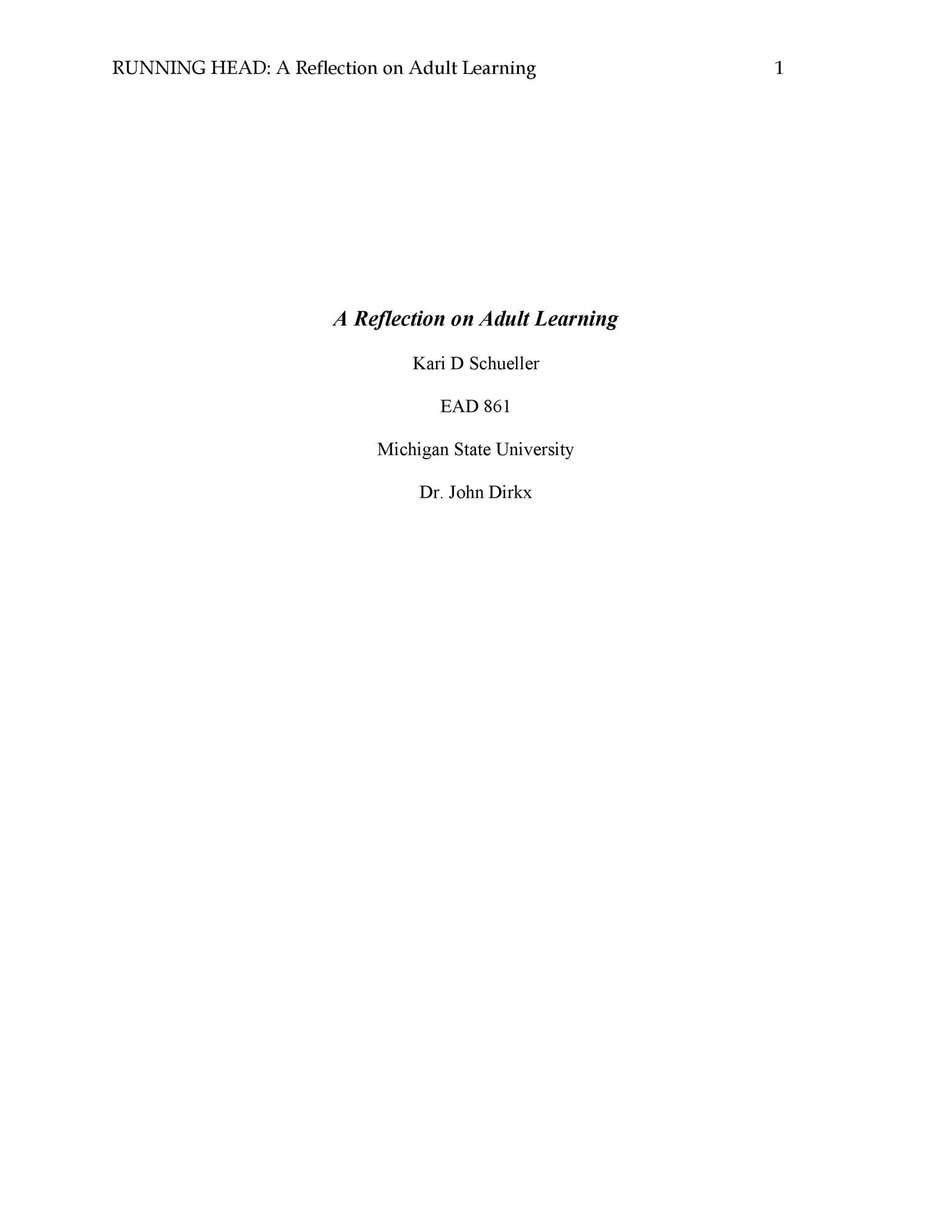 Free reflective essay example 34