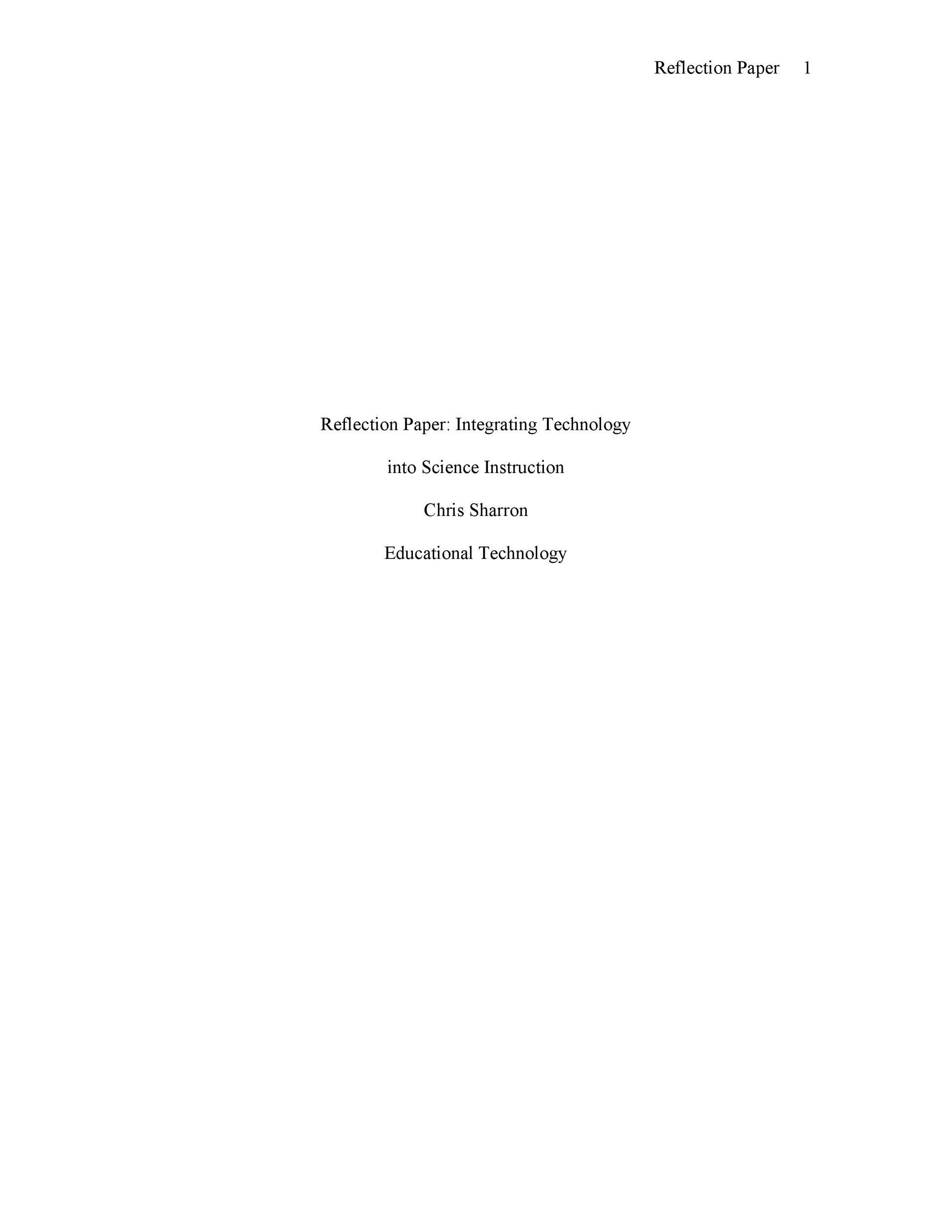 Free reflective essay example 40